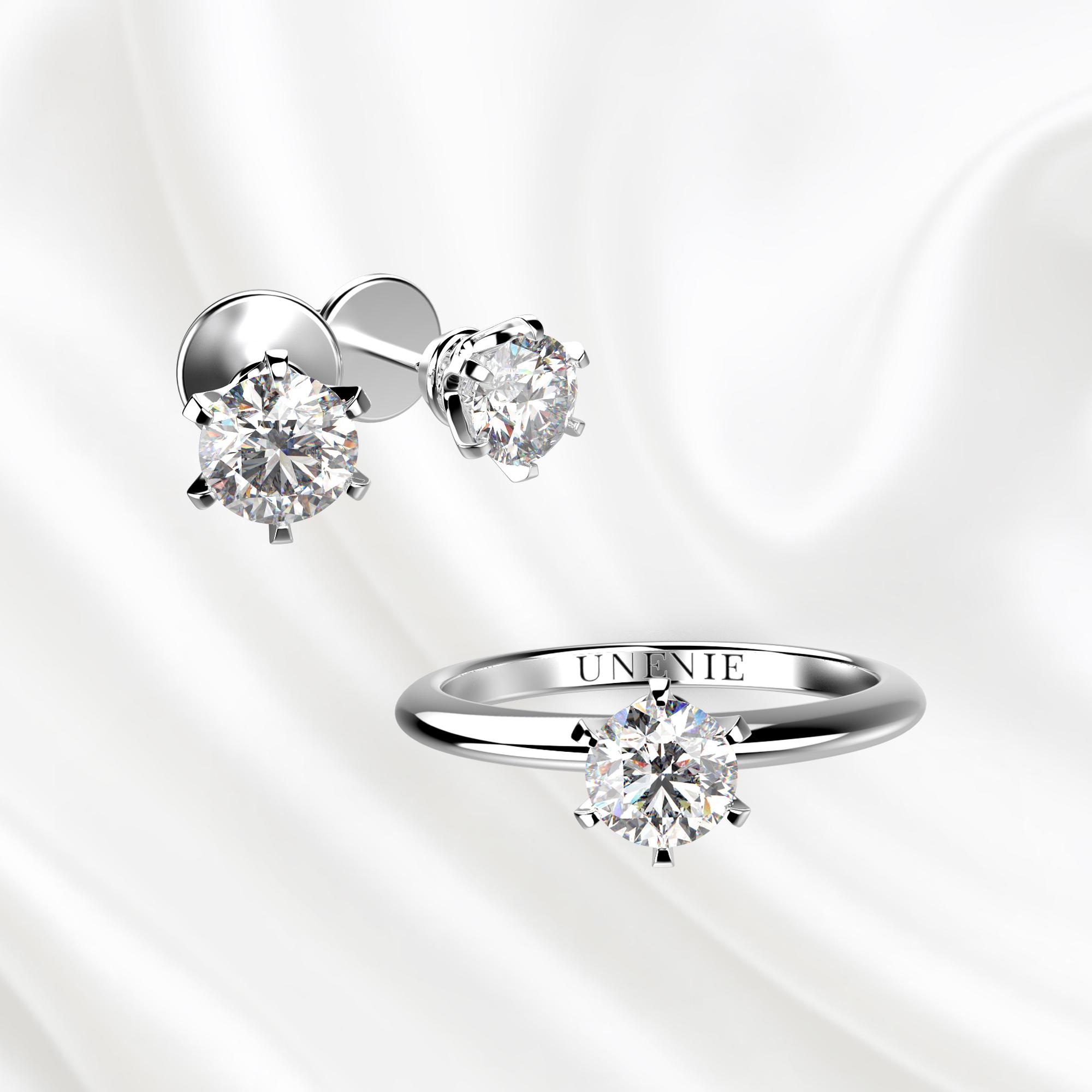 К3 Комплект ювелирных изделий из белого золота с бриллиантами 0.3 карат