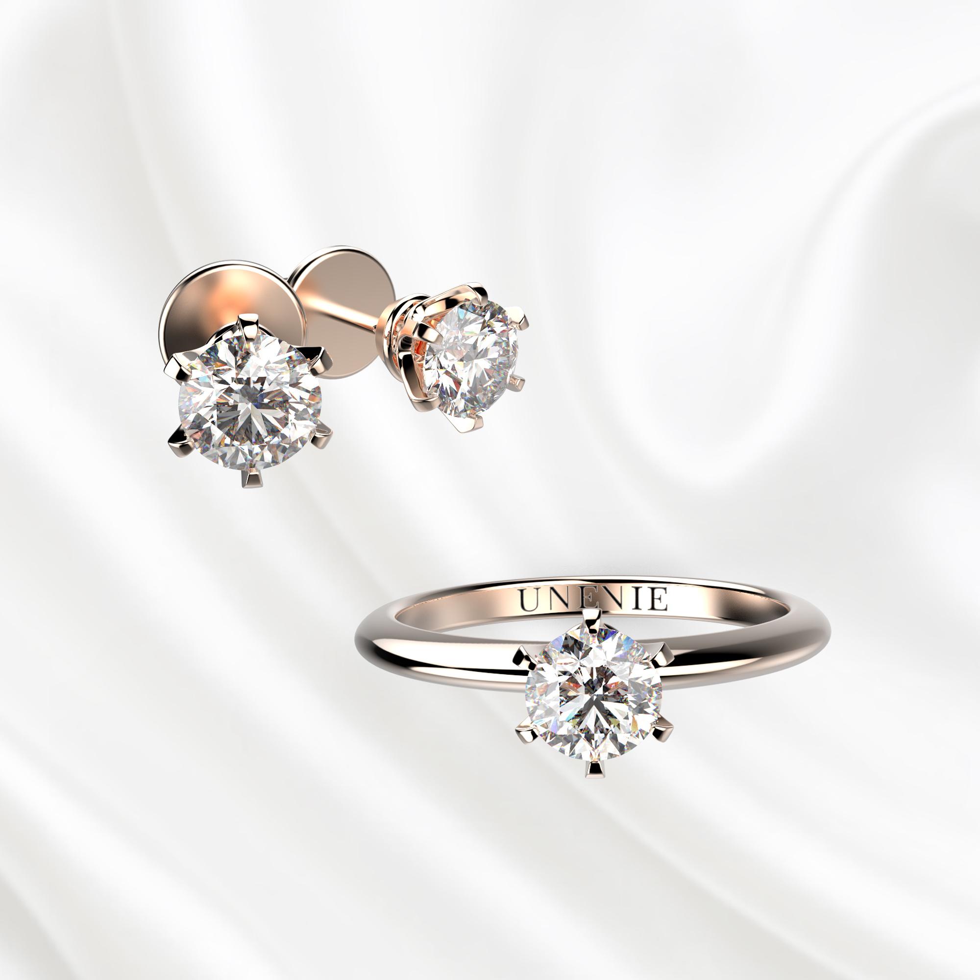 К3 Комплект ювелирных изделий из розового золота с бриллиантами 0.3 карат