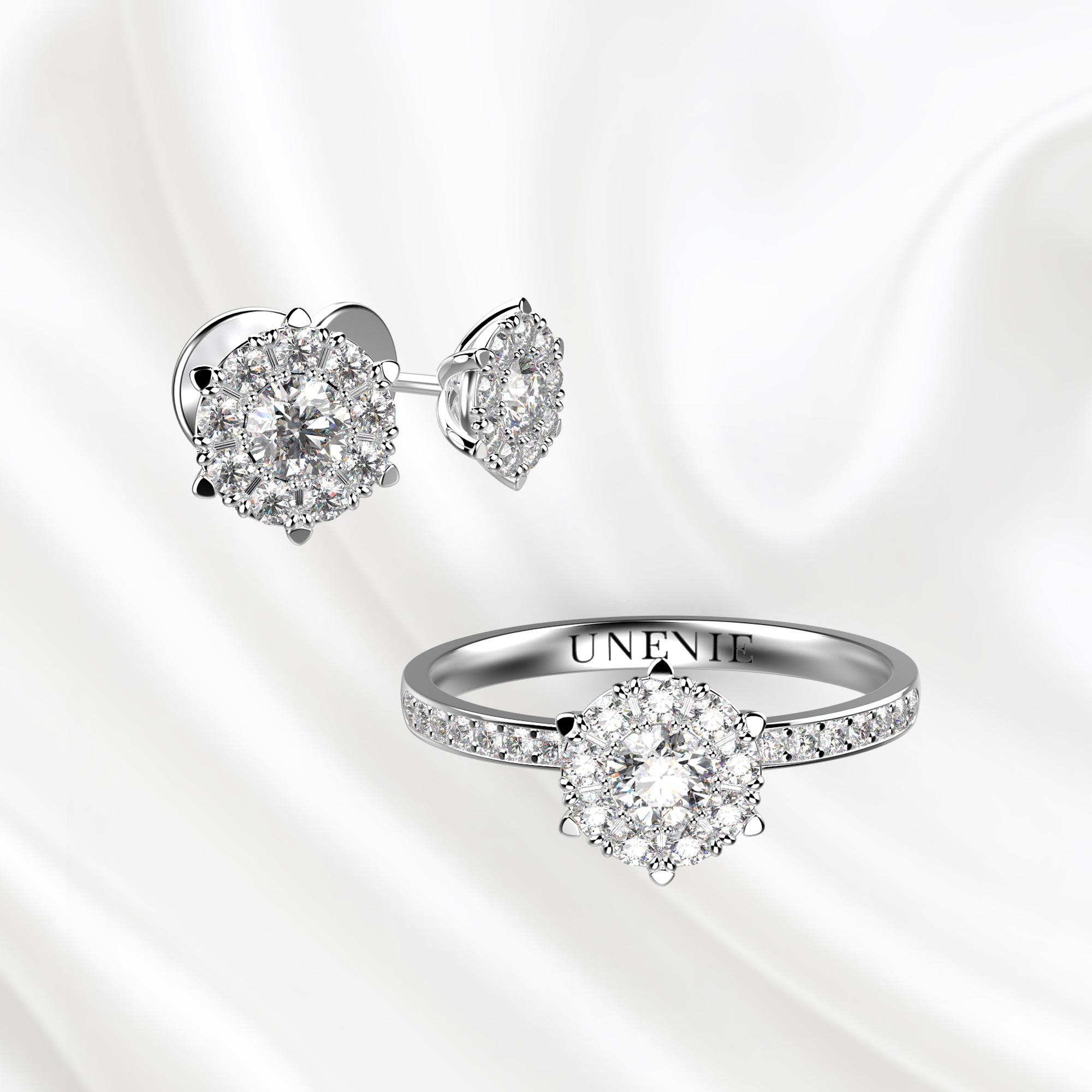 К4 Комплект ювелирных изделий из белого золота с бриллиантами