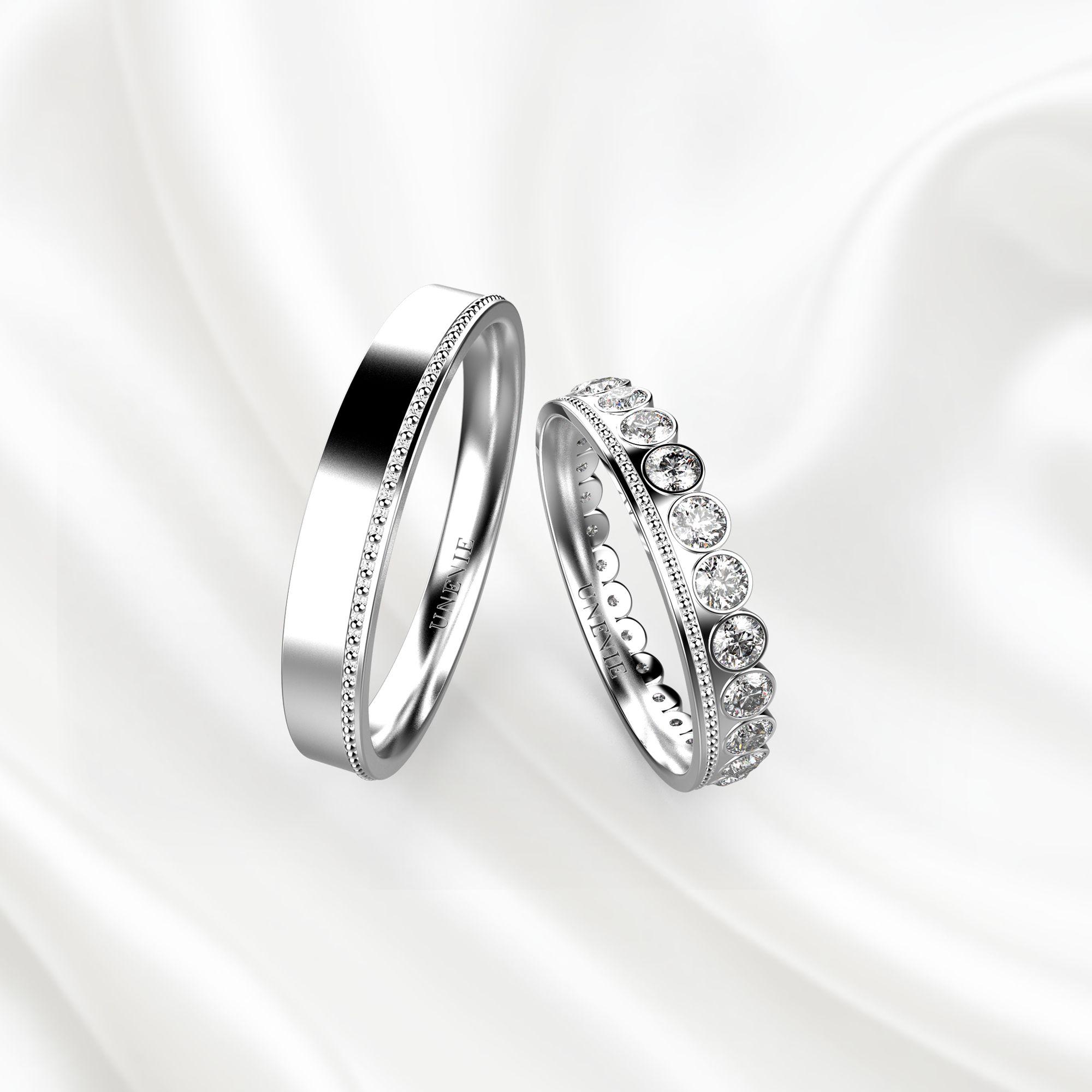 NV10 Обручальные кольца из белого золота