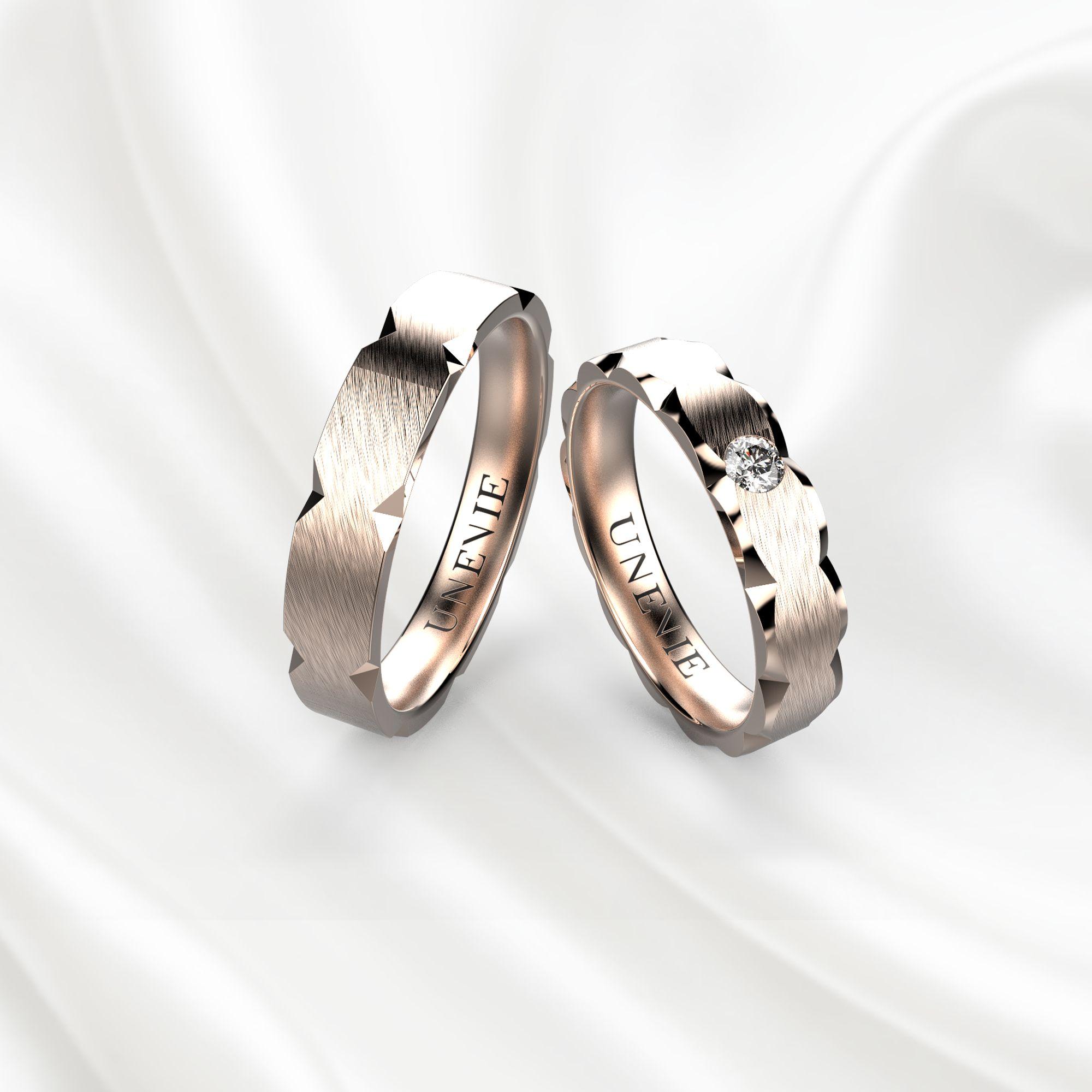 NV9 Обручальные кольца из розового золота