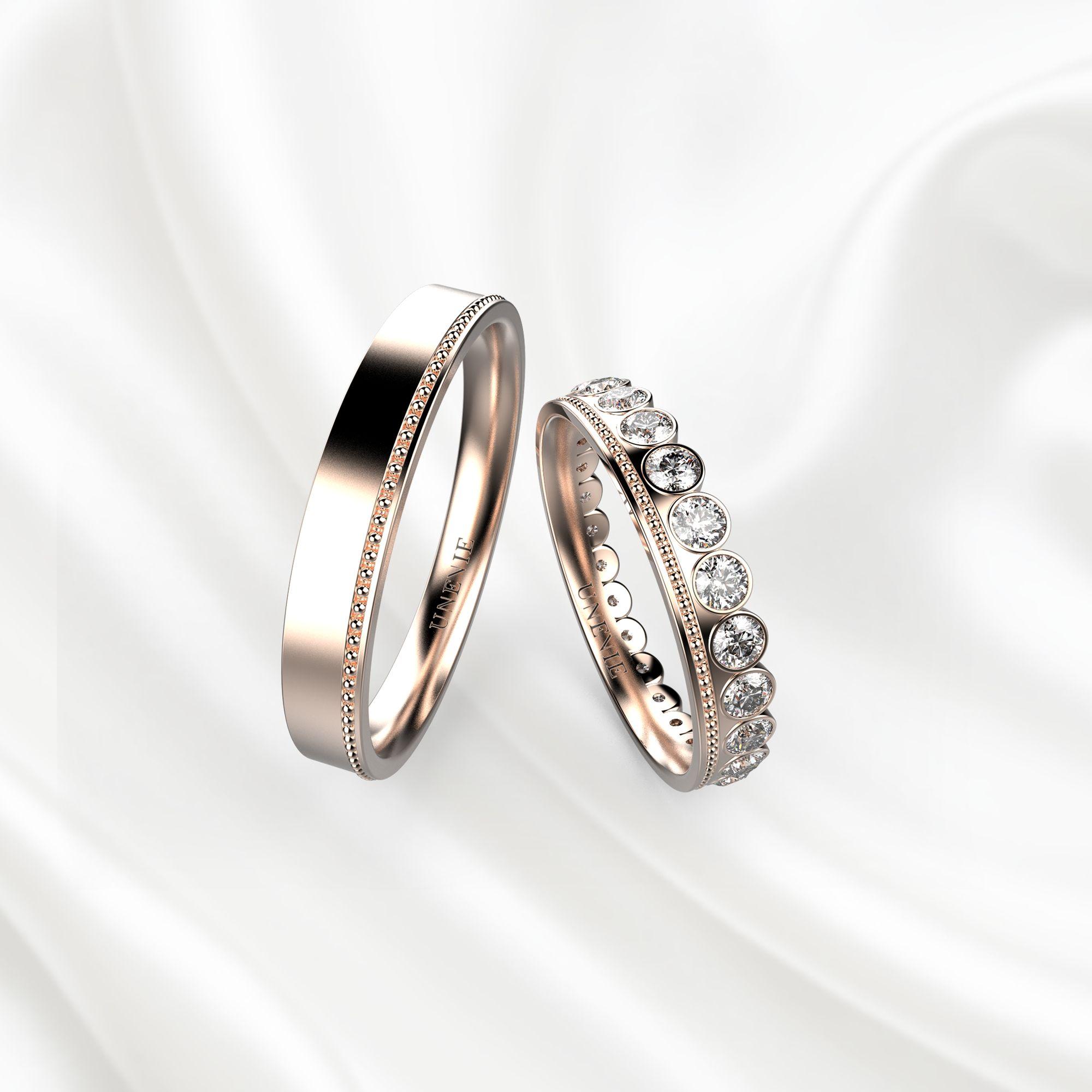 NV10 Обручальные кольца из розового золота