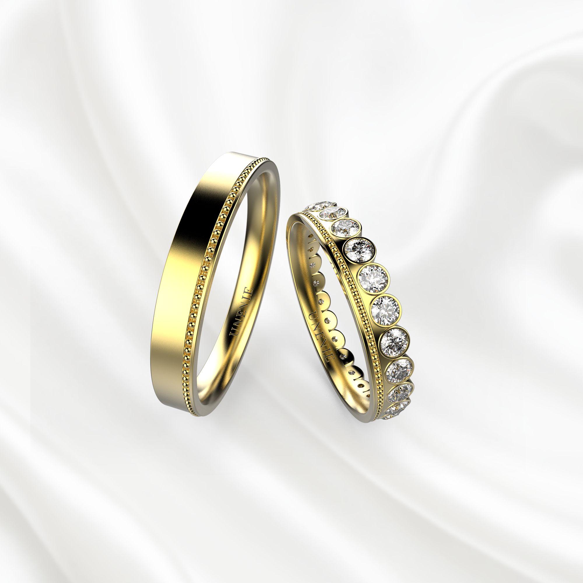 NV10 Обручальные кольца из жёлтого золота