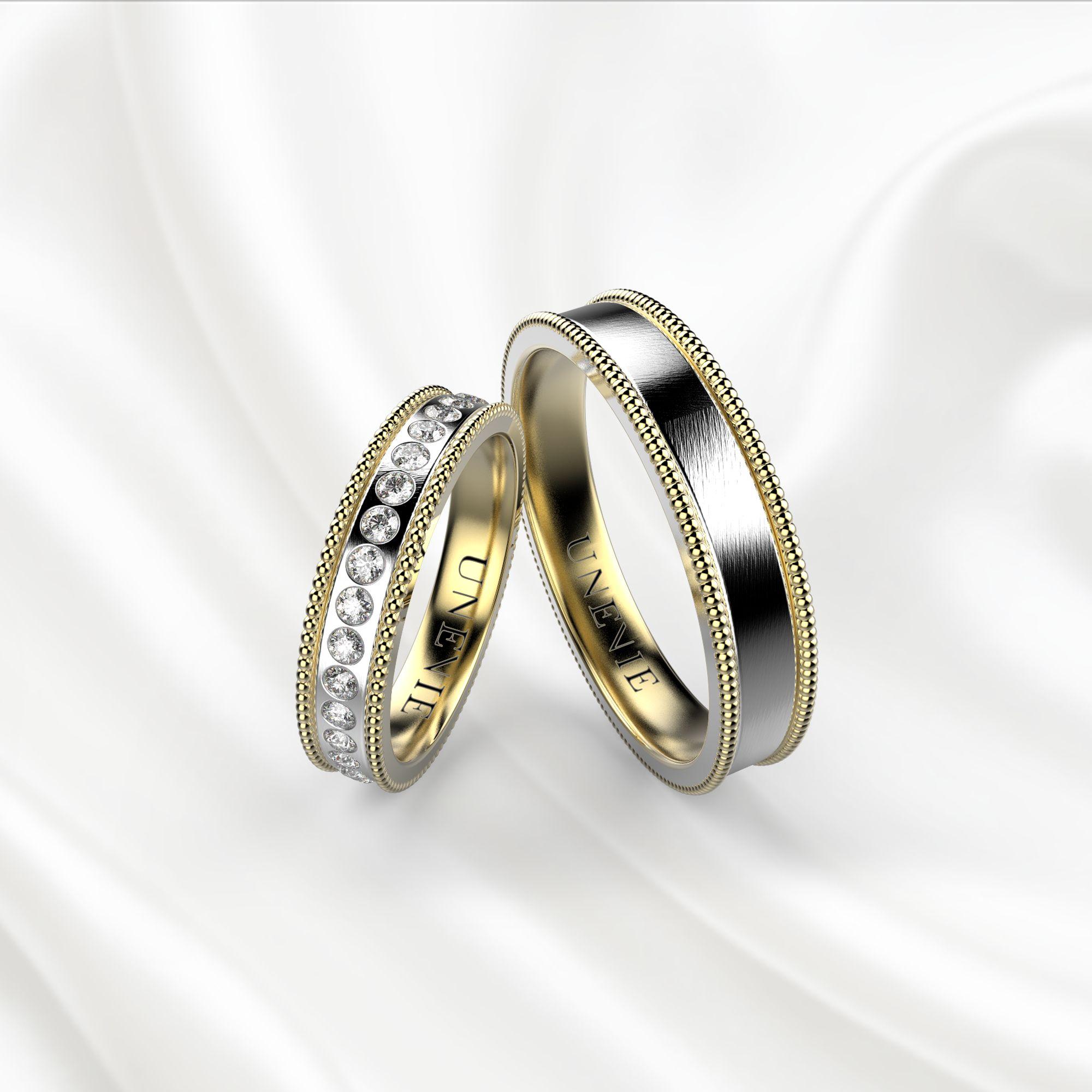 NV8 Обручальные кольца из жёлто-белого золота