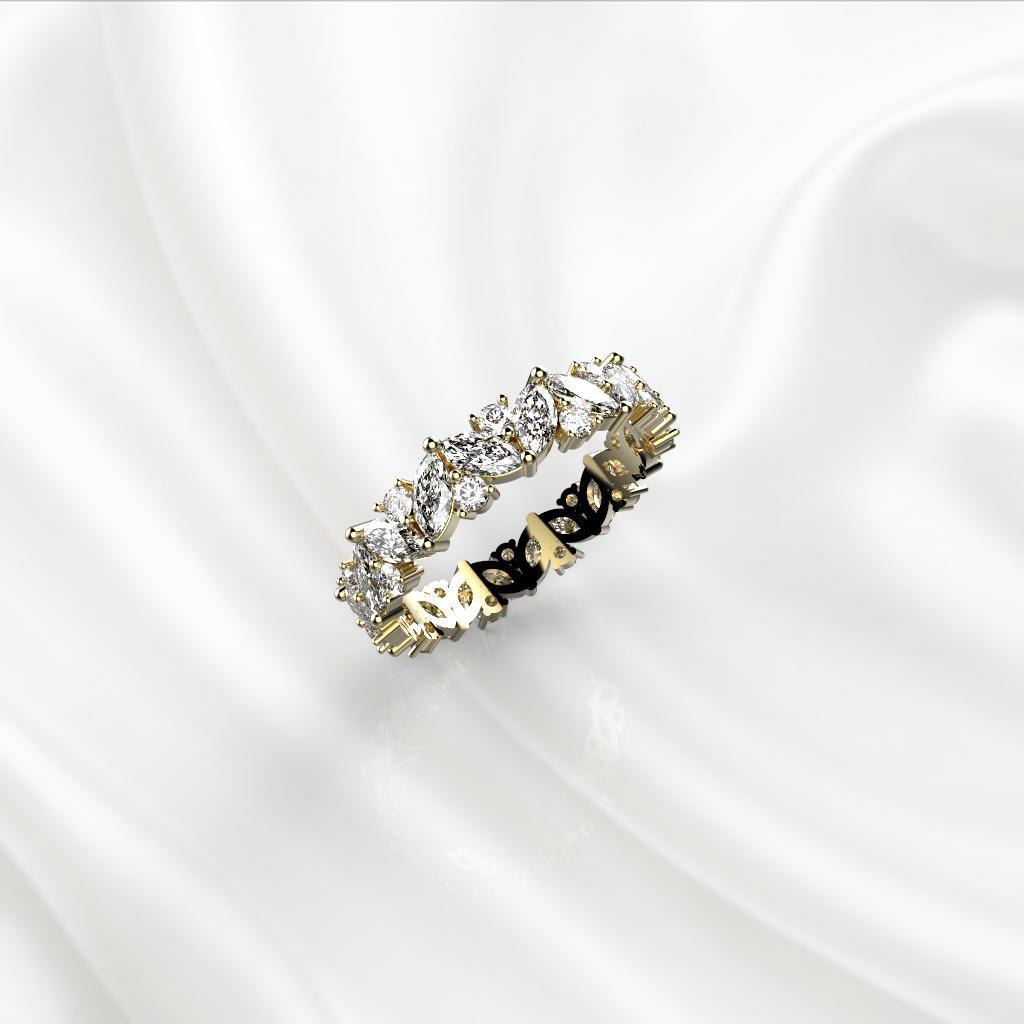 E2 Обручальное кольцо «ETERNITY» из желтого золота