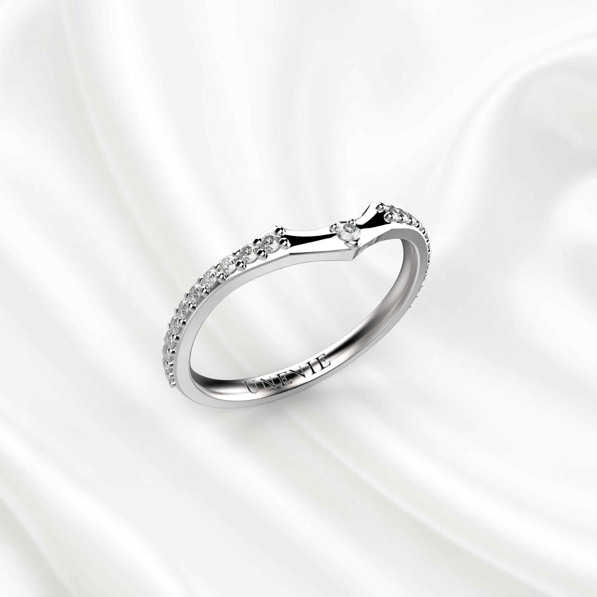 E5 Обручальное кольцо «ETERNITY» из белого золота
