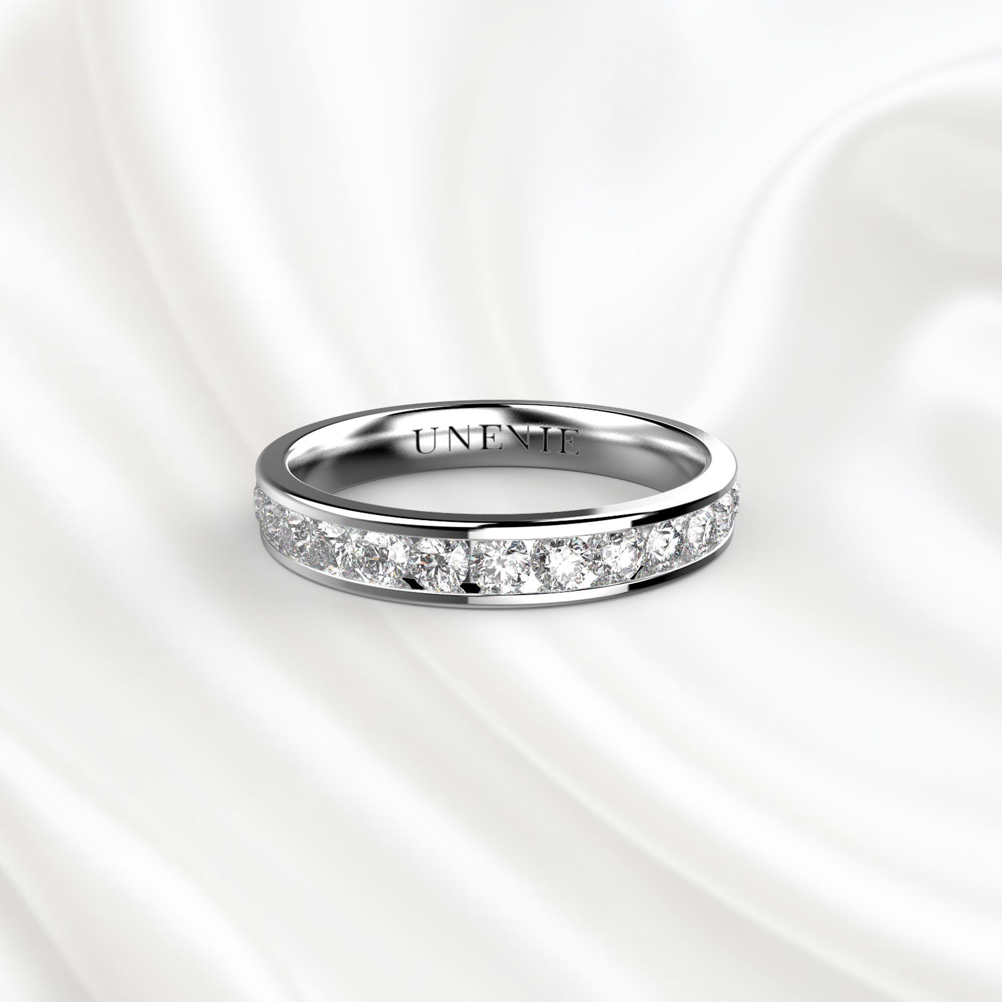 E3 Обручальное кольцо «ETERNITY» из белого золота