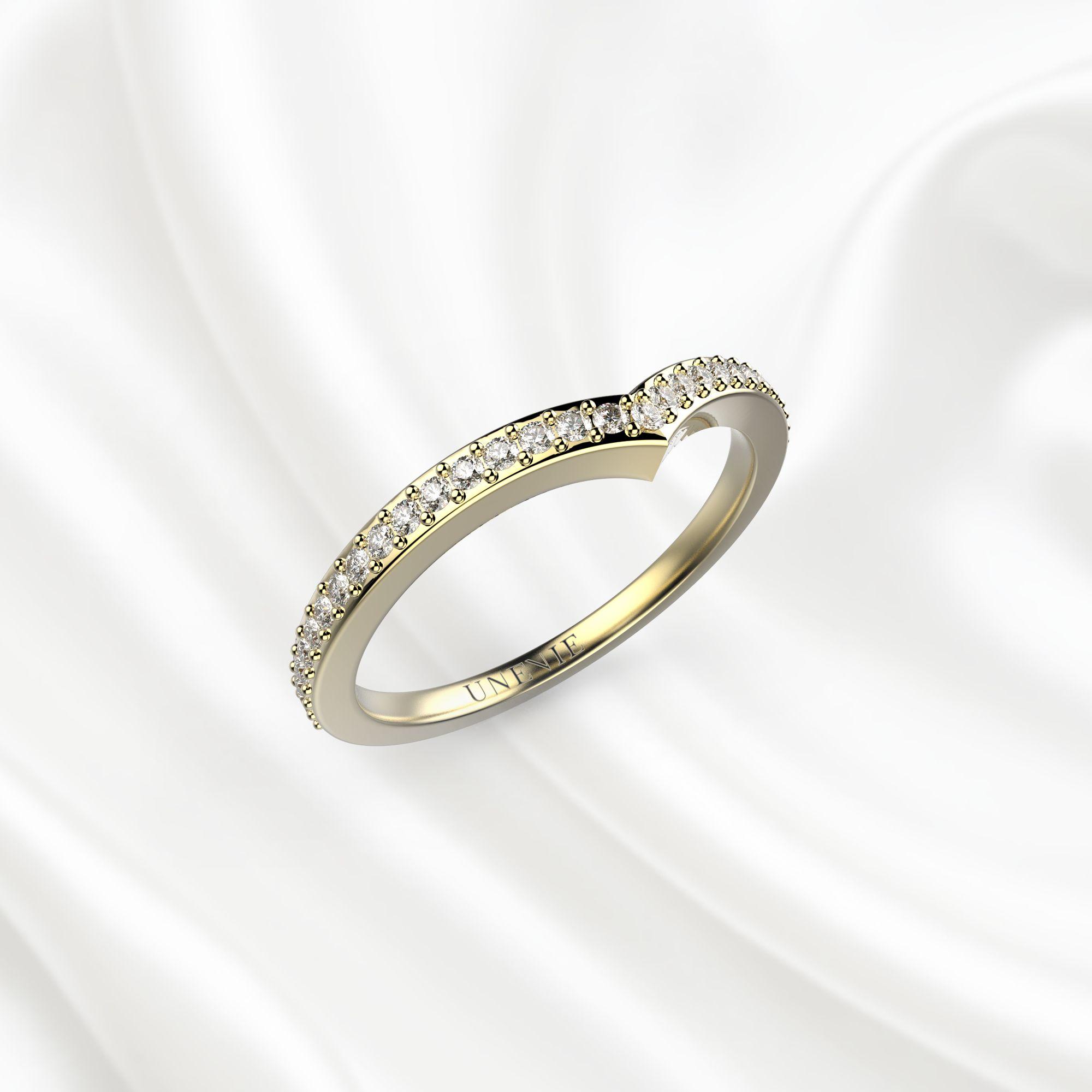 E6 Обручальное кольцо «ETERNITY» из желтого золота