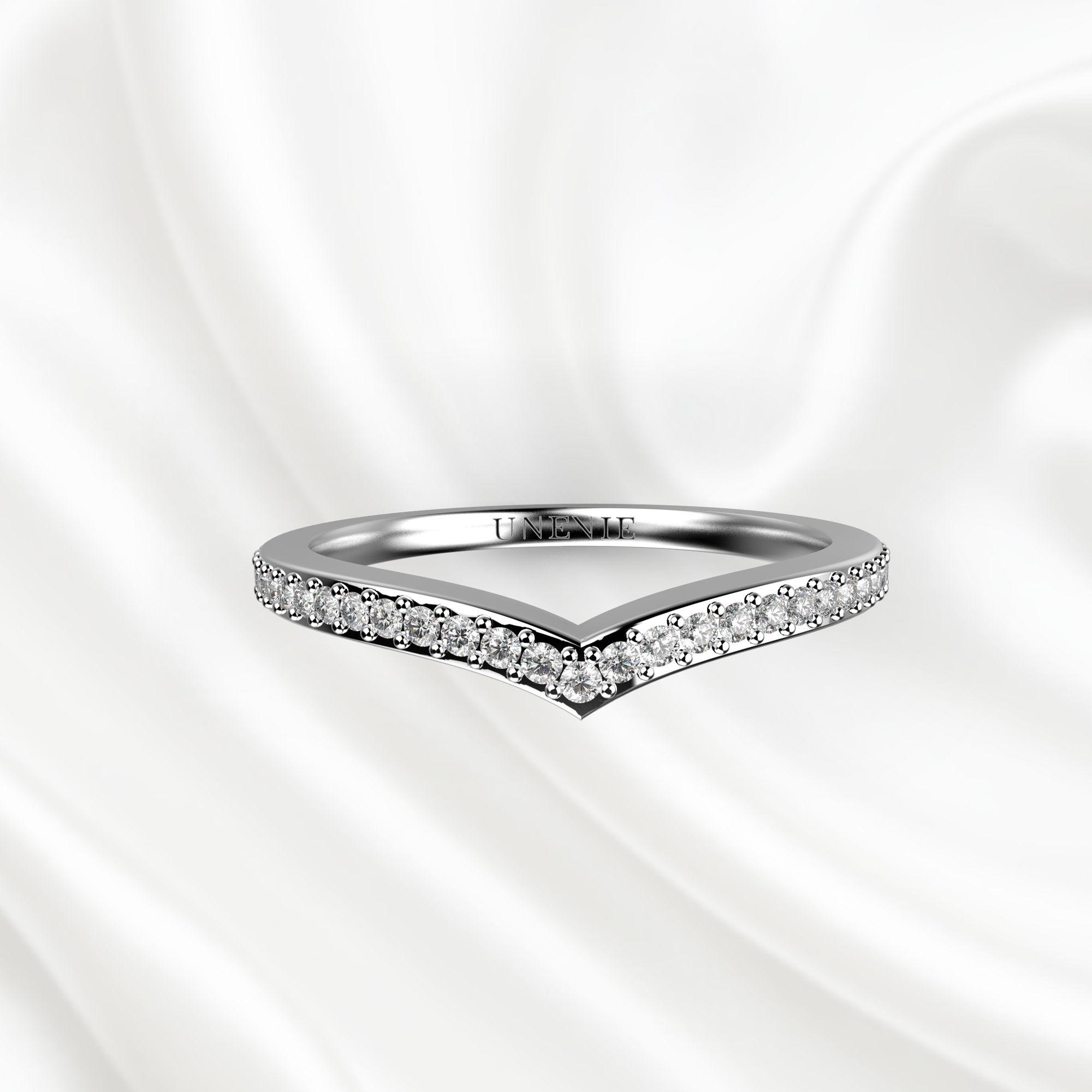 E6 Обручальное кольцо «ETERNITY» из белого золота