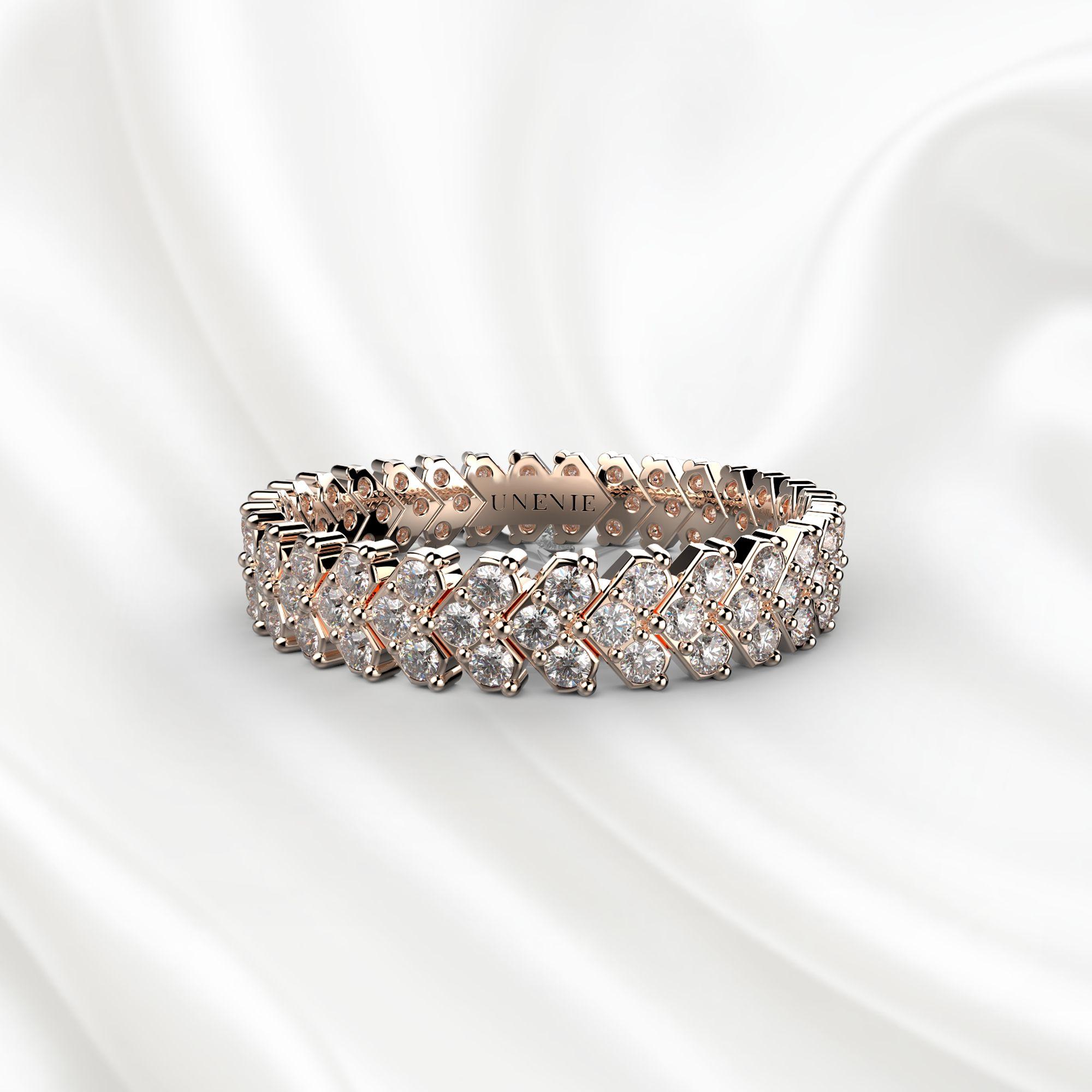 E9 Обручальное кольцо «ETERNITY» из розового золота