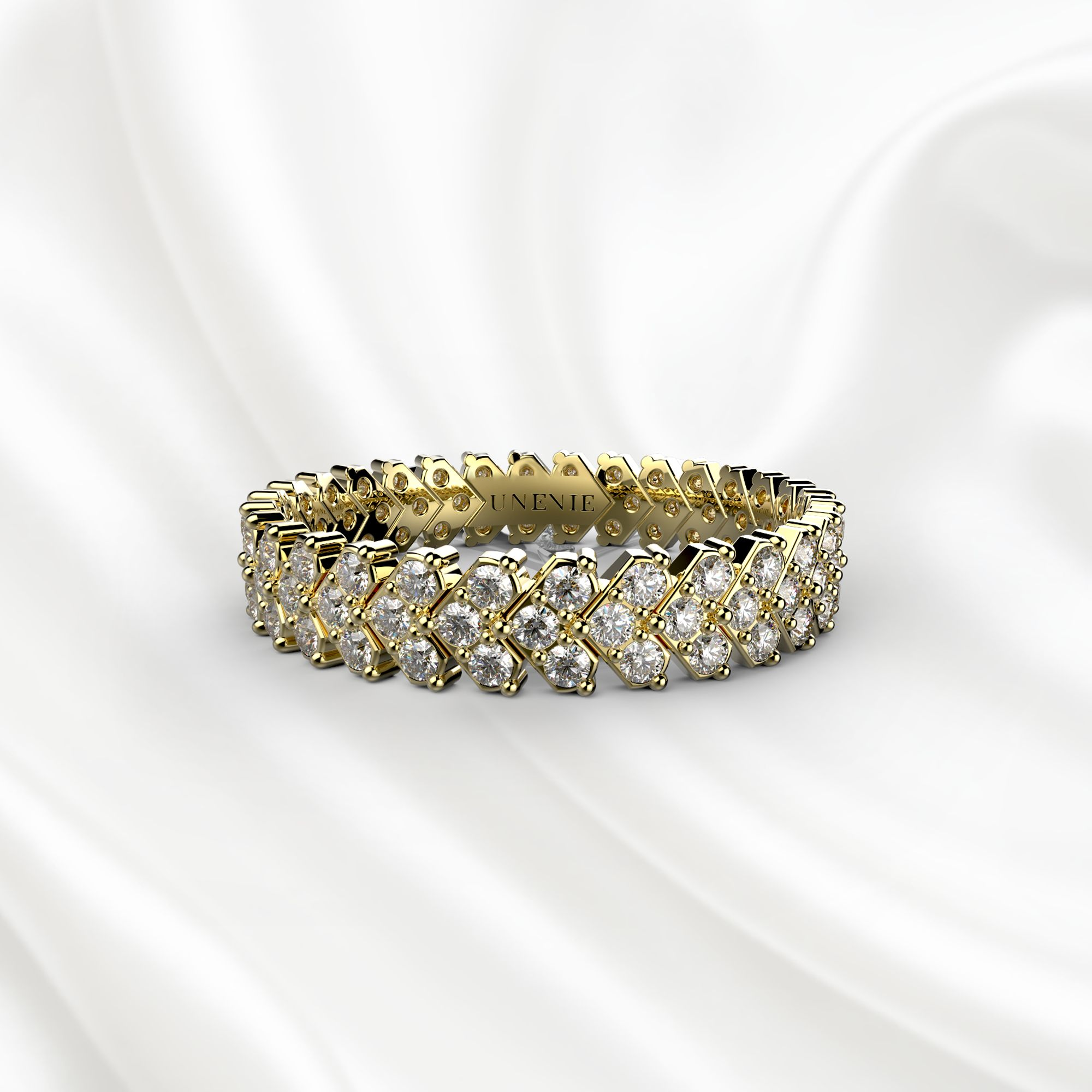 E9 Обручальное кольцо «ETERNITY» из желтого золота