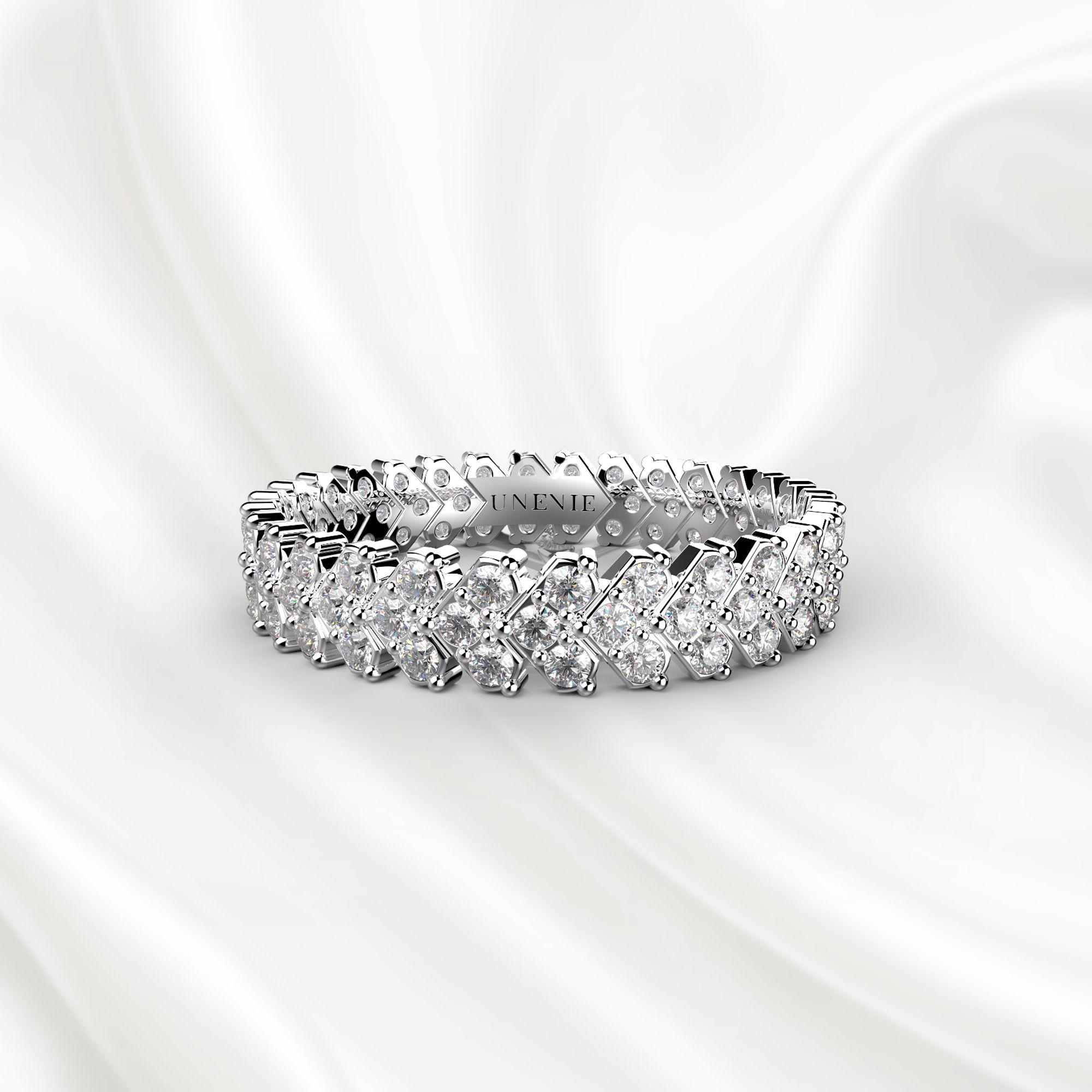 E9 Обручальное кольцо «ETERNITY» из белого золота