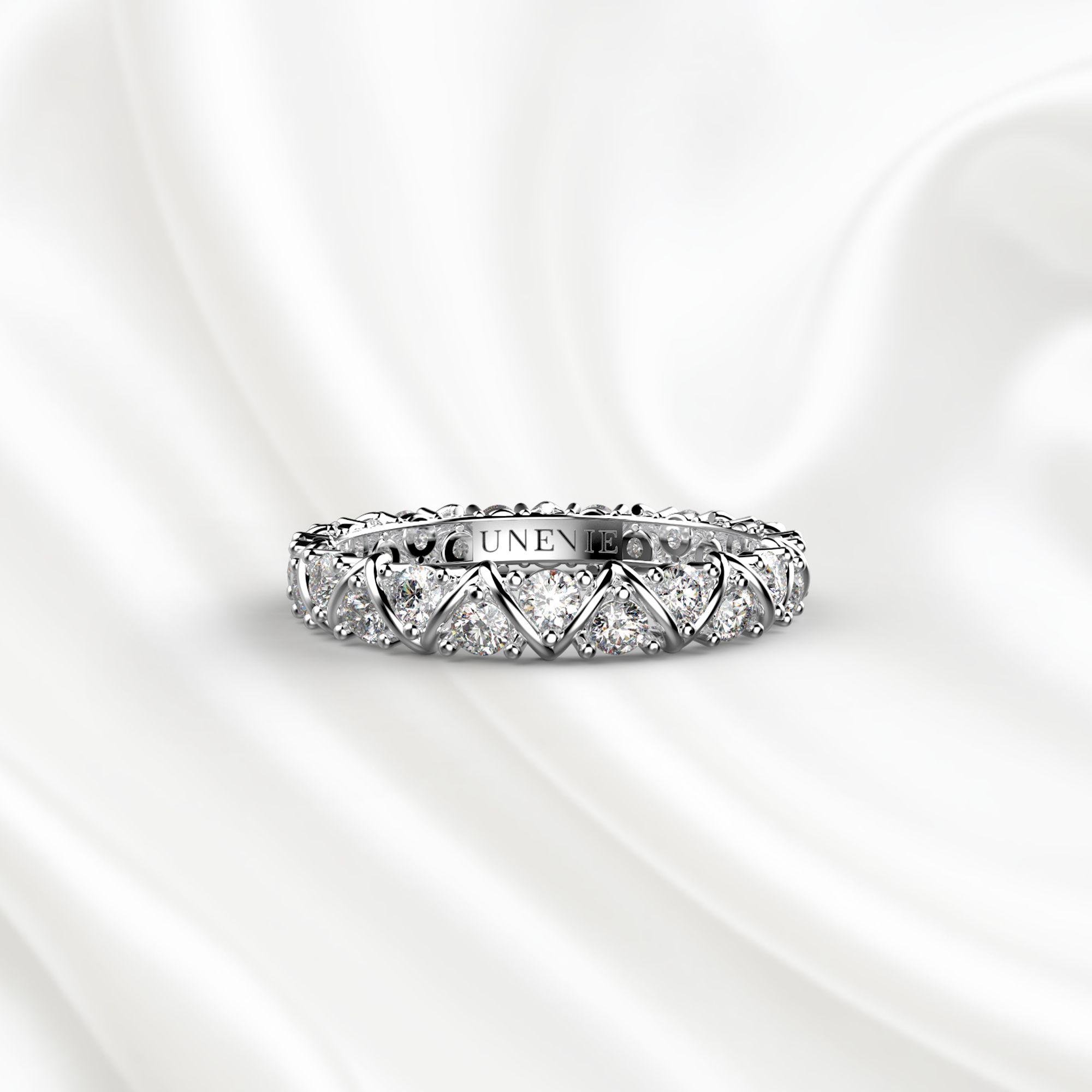 E10 Обручальное кольцо «ETERNITY» из белого золота