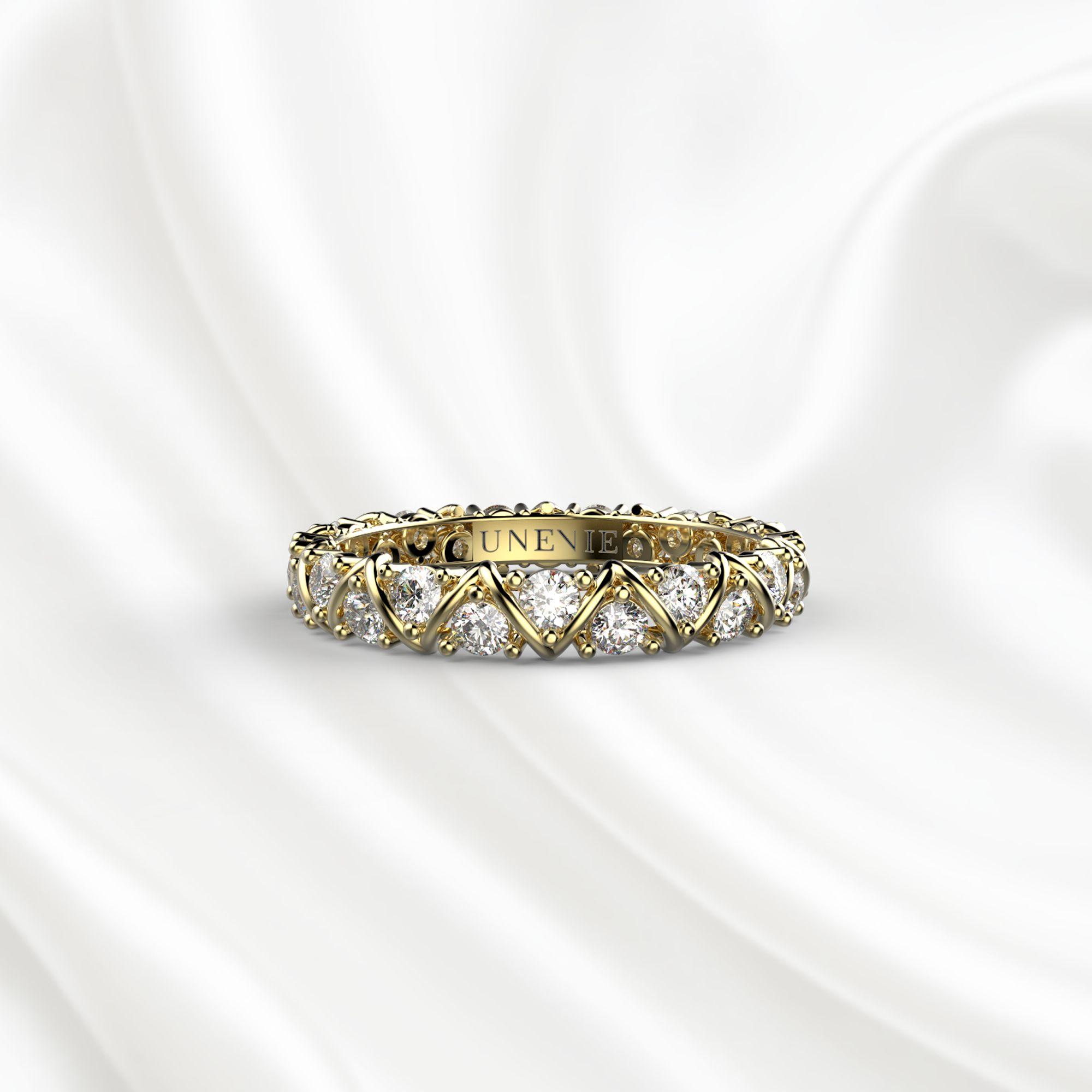 E10 Обручальное кольцо «ETERNITY» из желтого золота