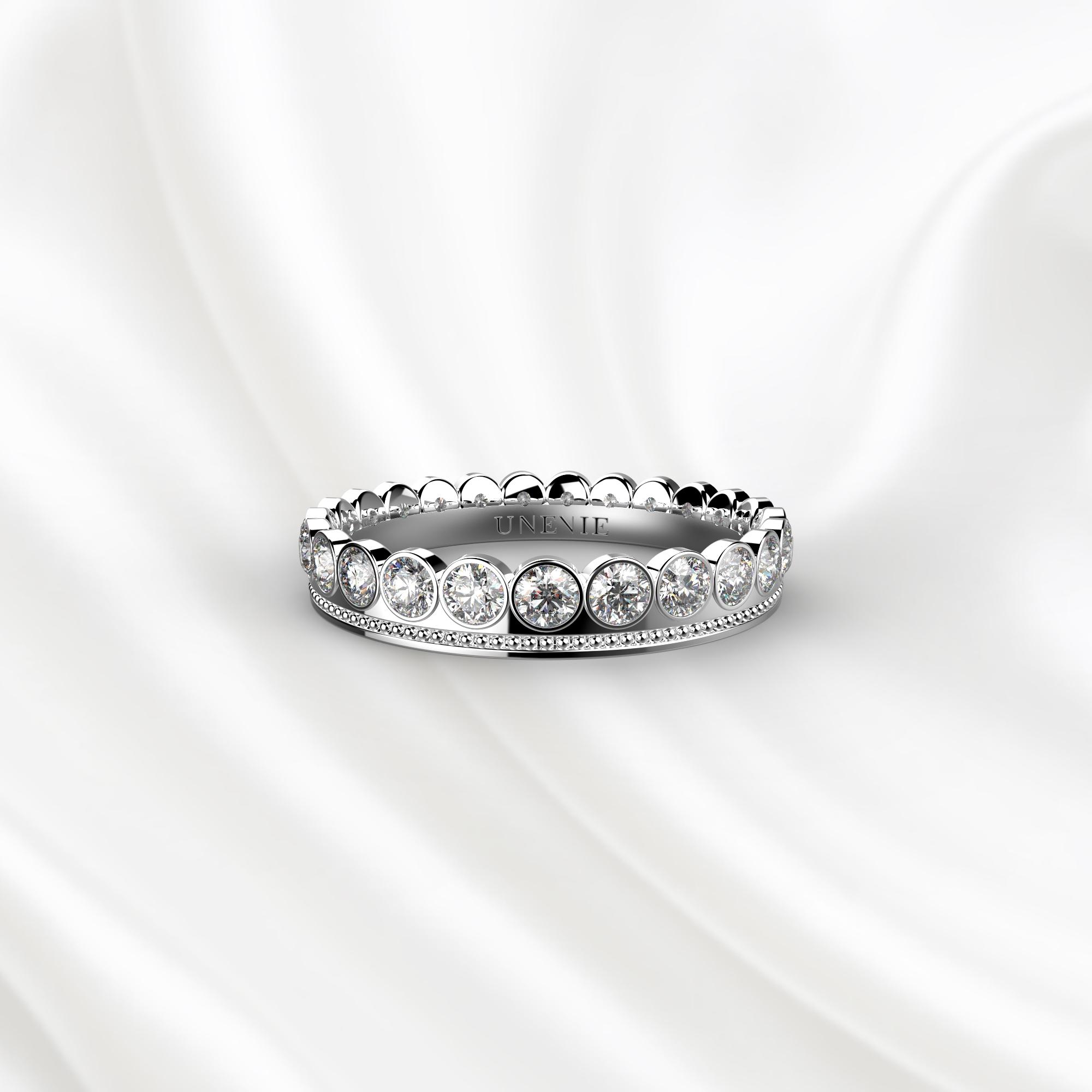 E15 Обручальное кольцо из белого золота с 23 бриллиантами