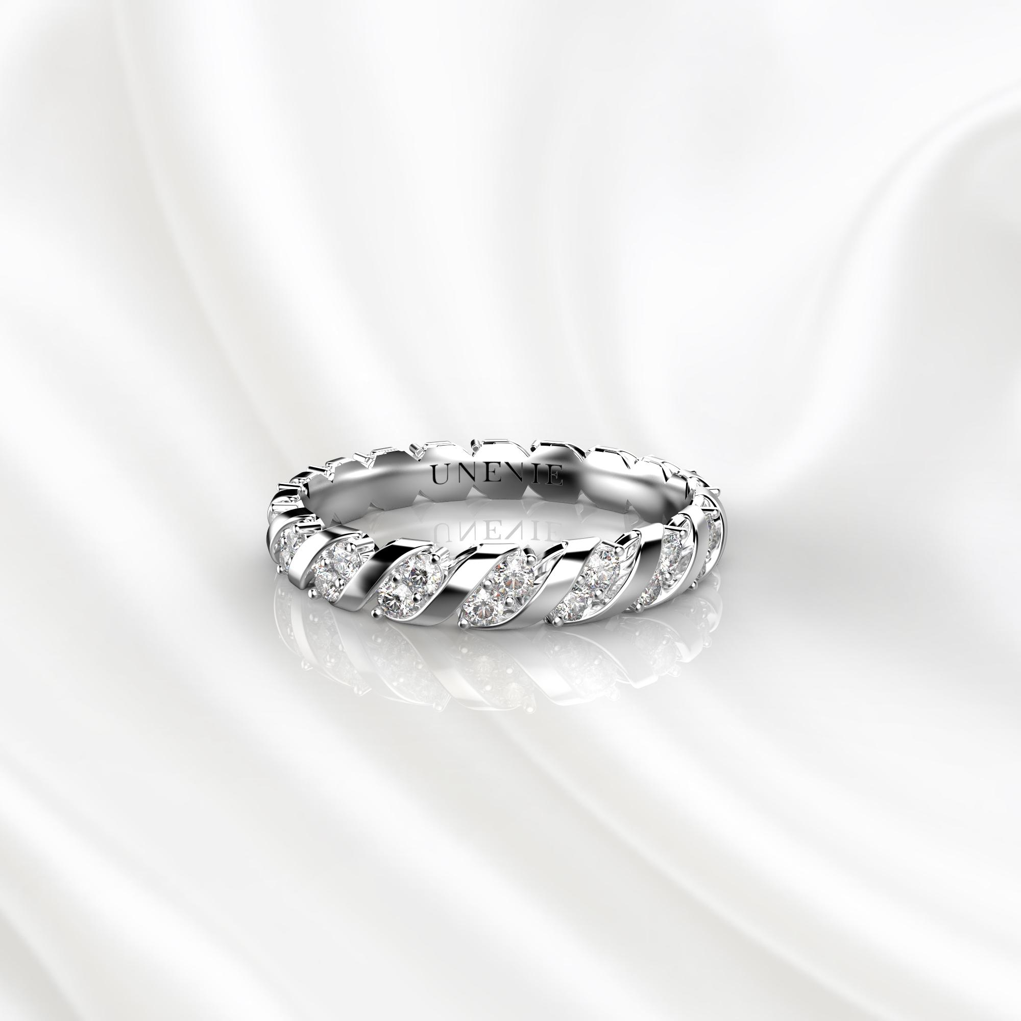 E16 Обручальное кольцо из белого золота с 36 бриллиантами