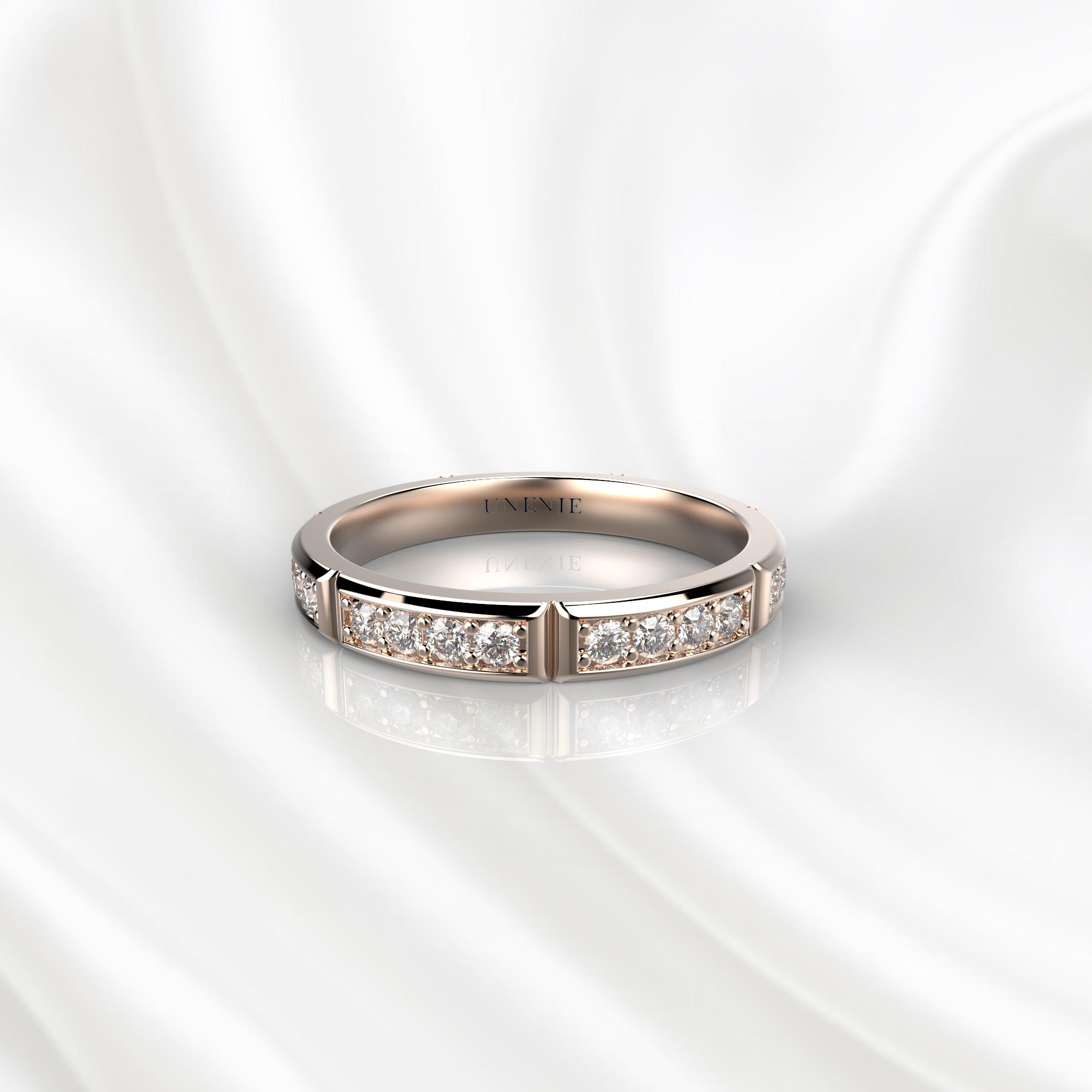 E17 Обручальное кольцо из розового золота с 28 бриллиантами