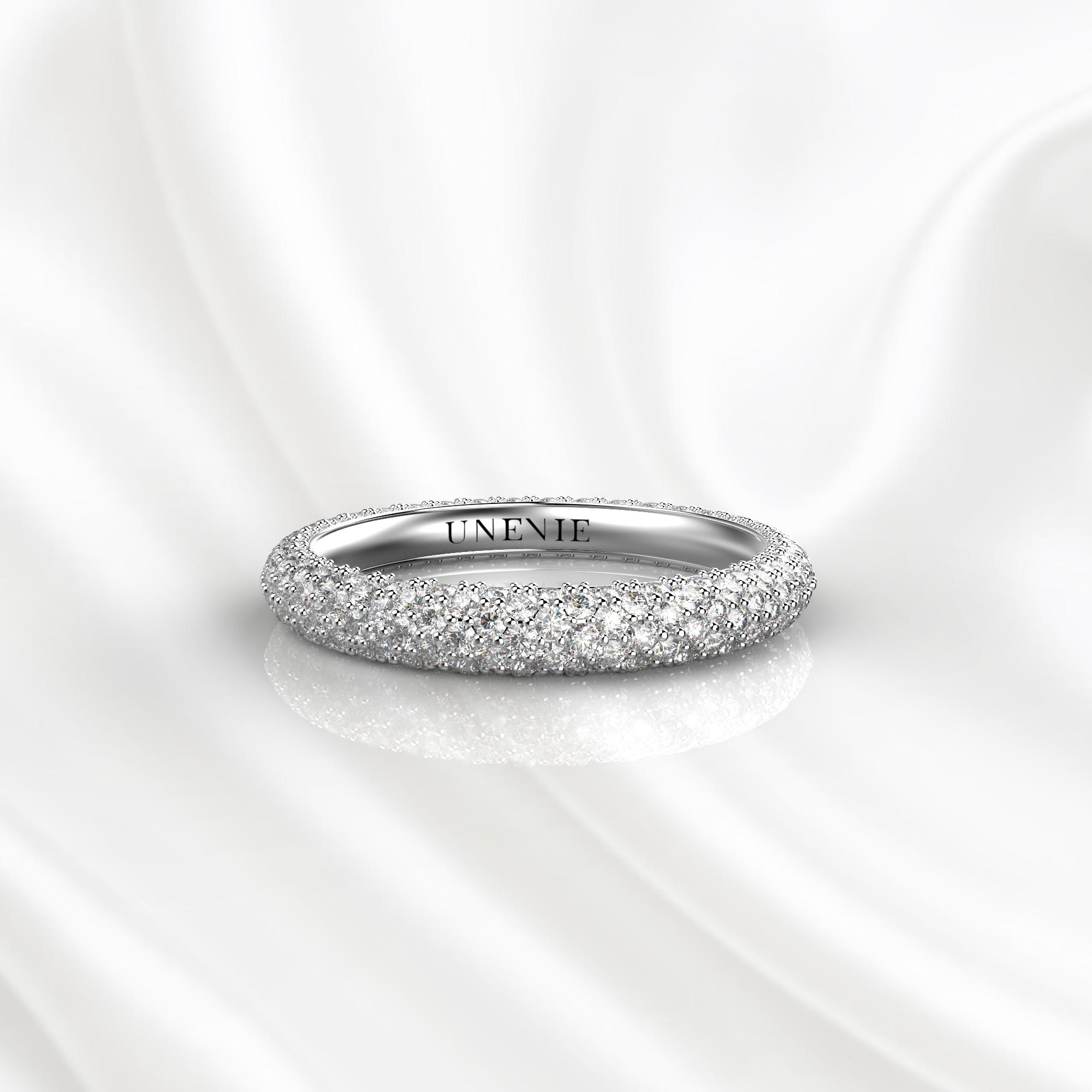 E18 Обручальное кольцо из белого золота с бриллиантами