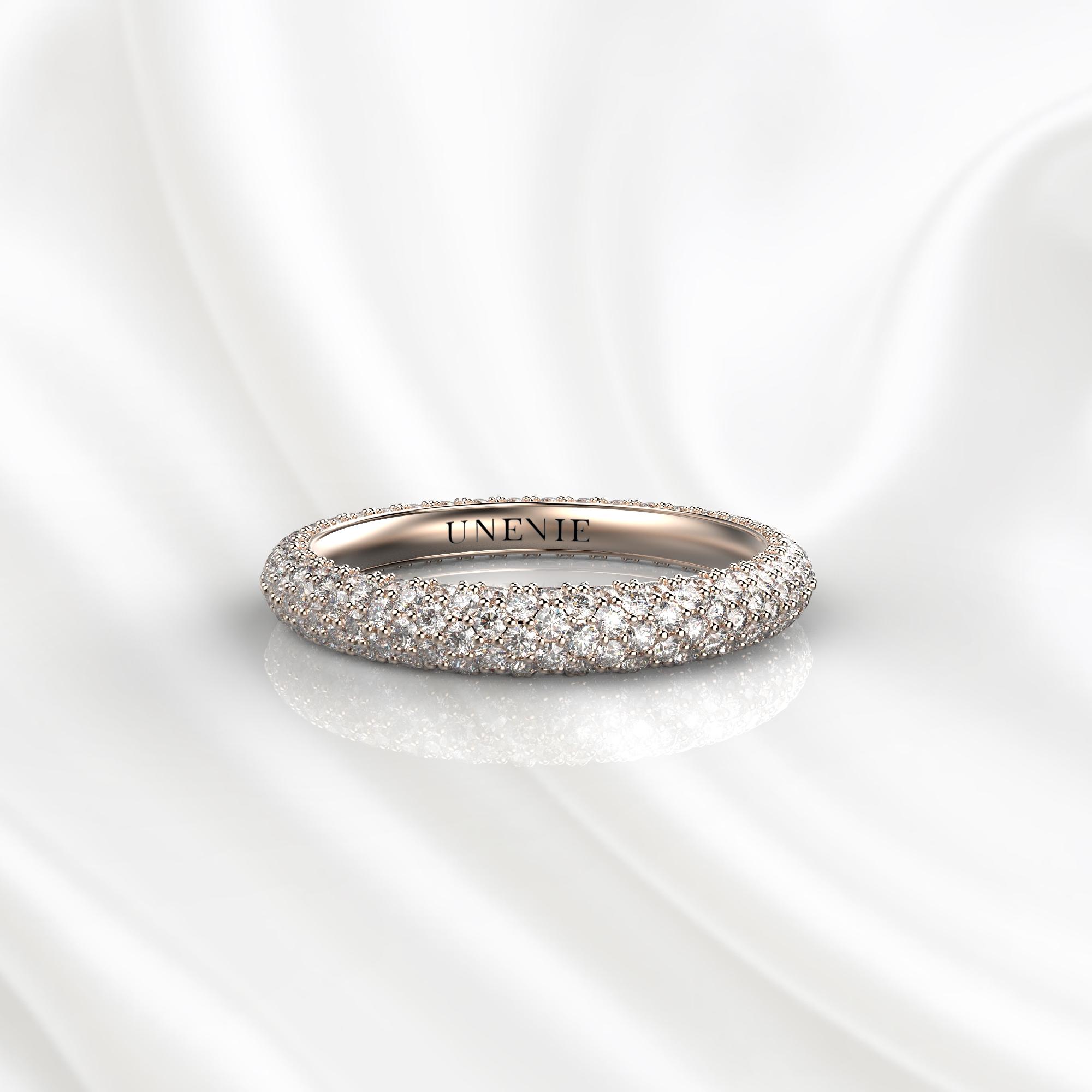 E18 Обручальное кольцо из розового золота с бриллиантами