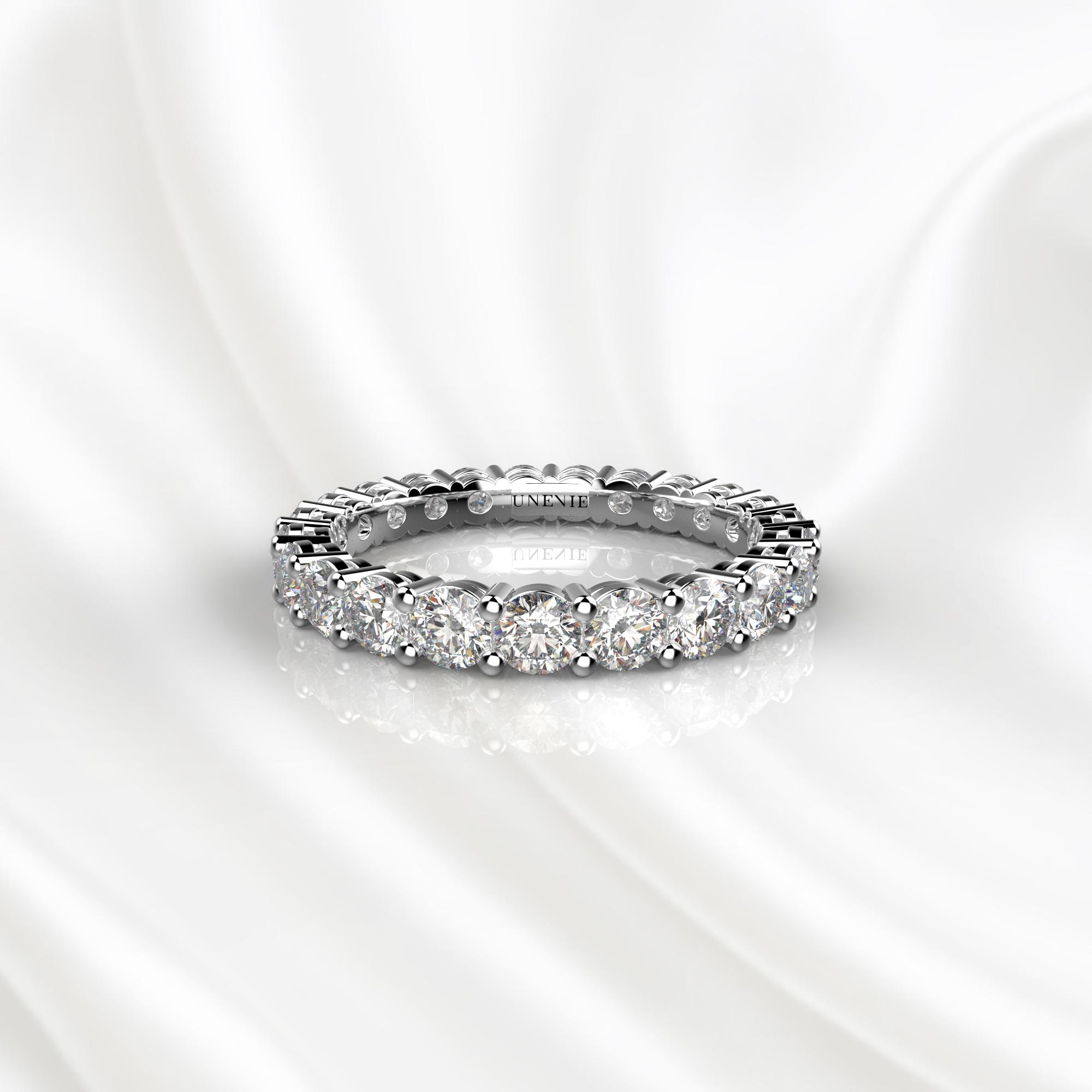 E20 Обручальное кольцо из белого золота с бриллиантами