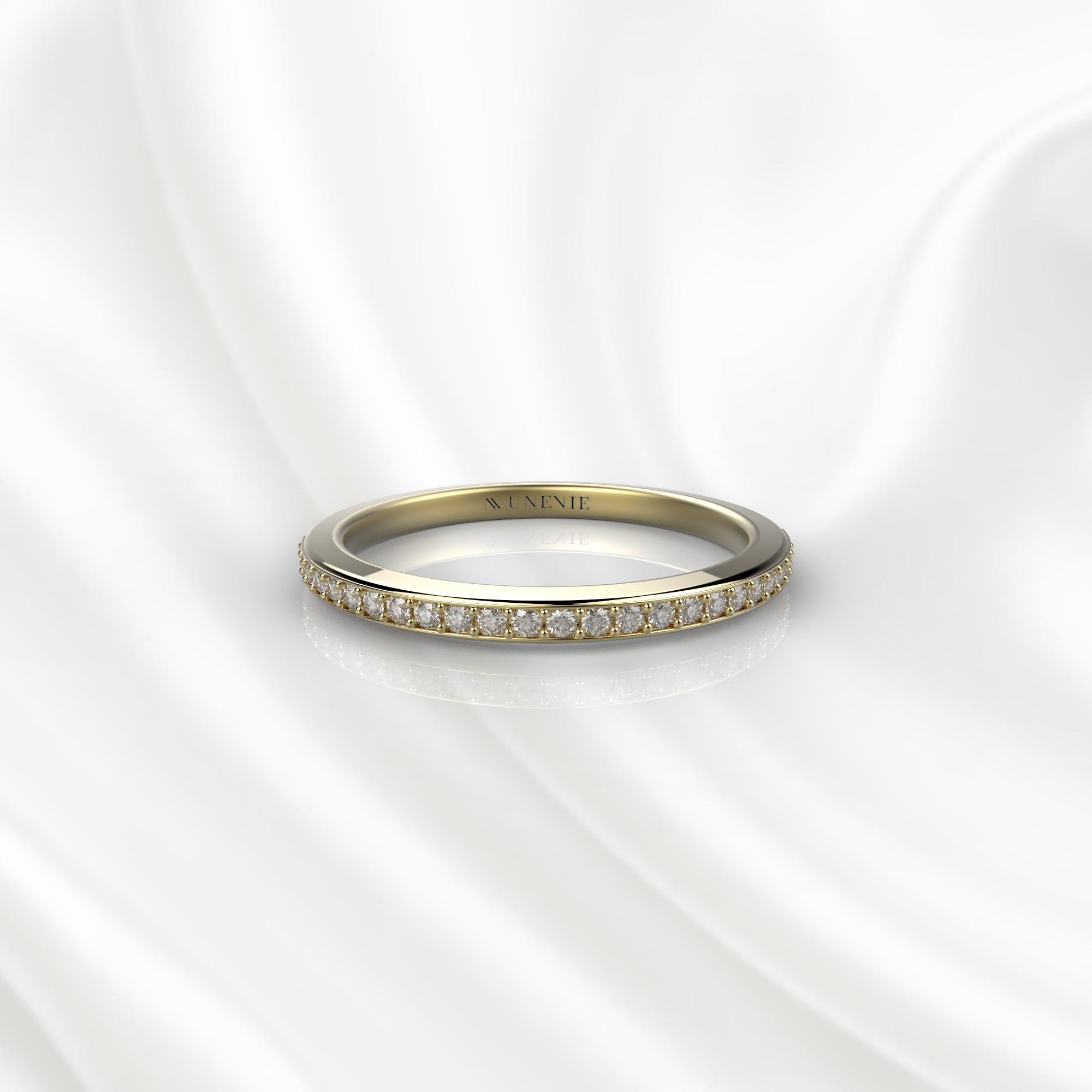 E22 Обручальное кольцо из желтого золота с бриллиантами