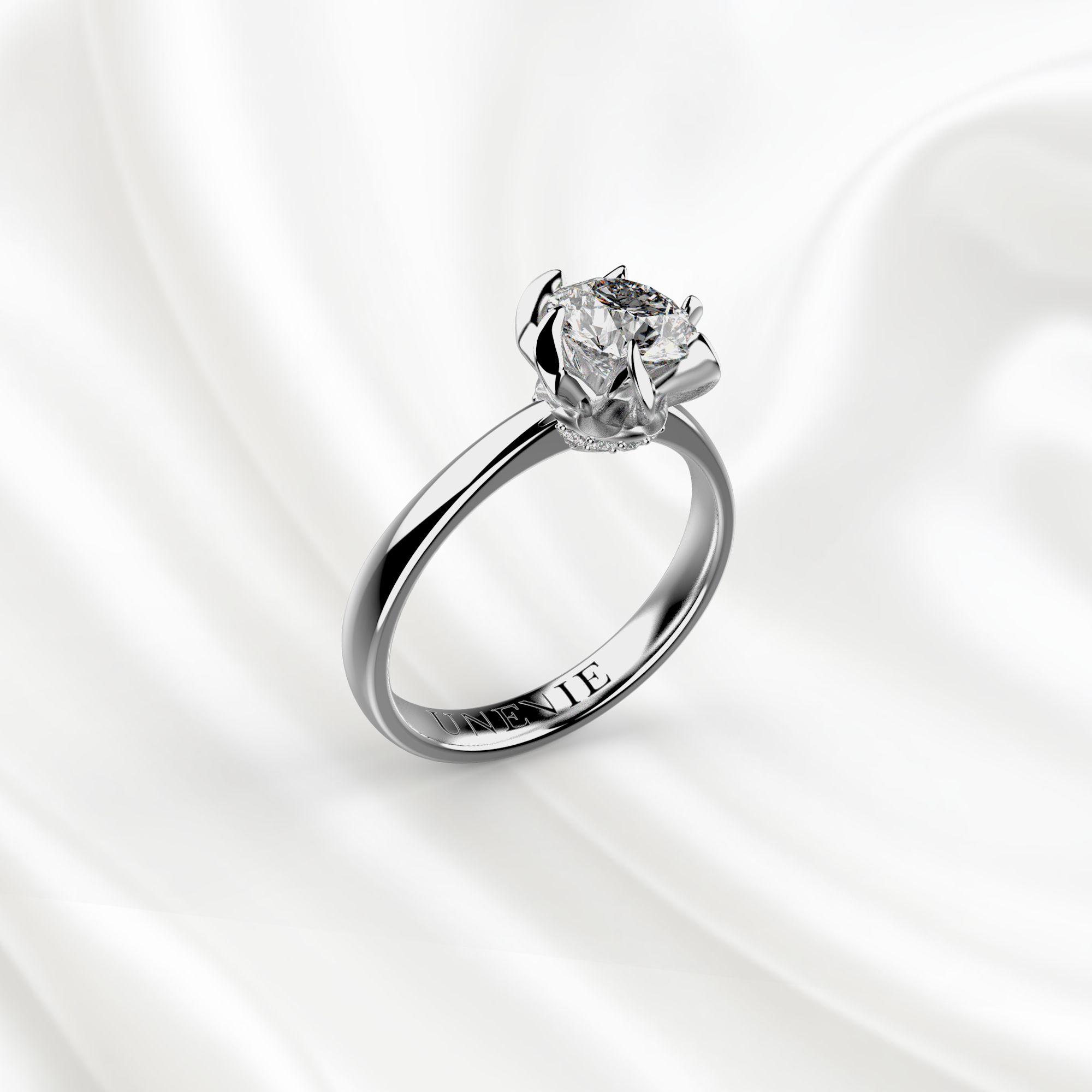 N11 Помолвочное кольцо из белого золота с бриллиантом 0.7 карат
