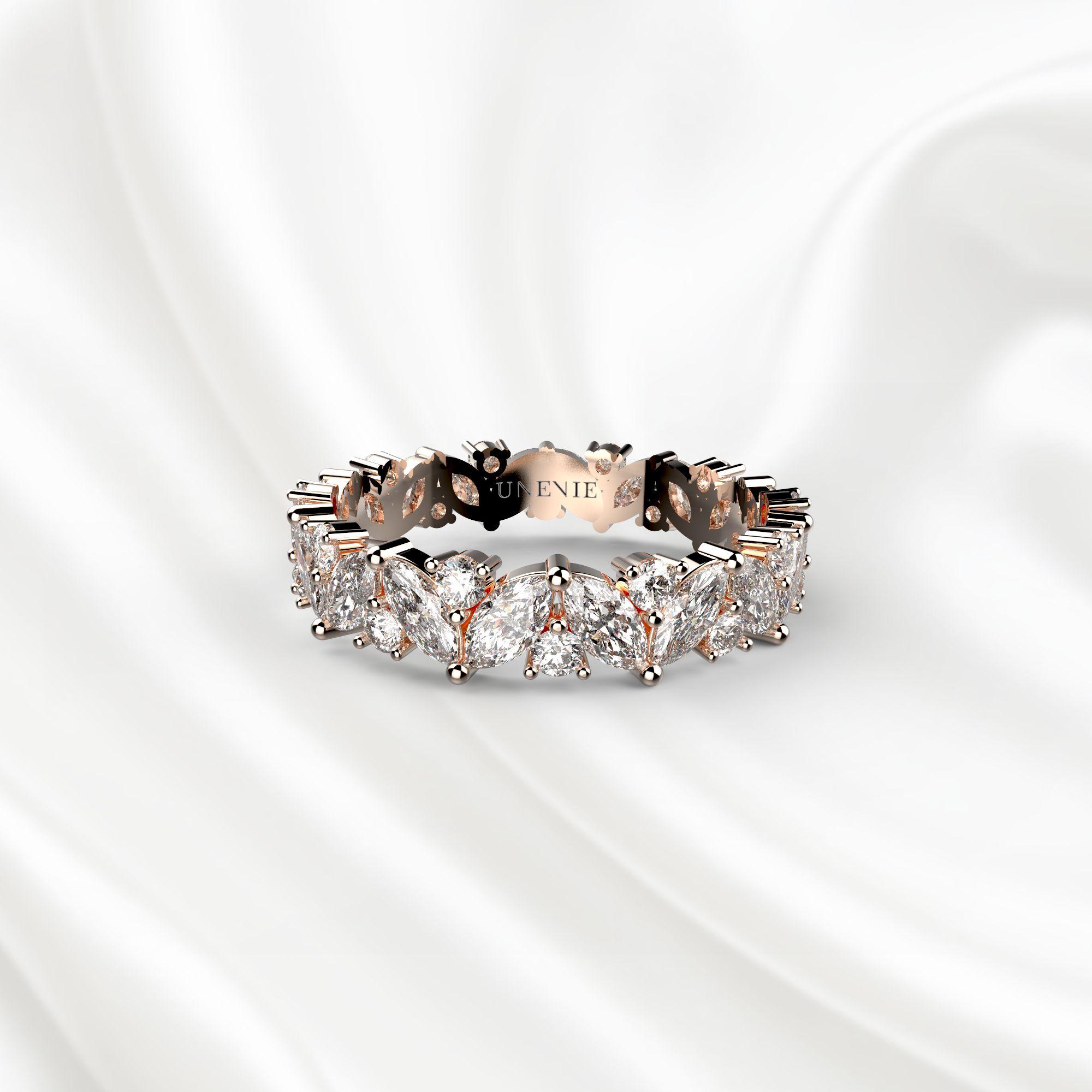 E2 Обручальное кольцо «ETERNITY» из розового золота