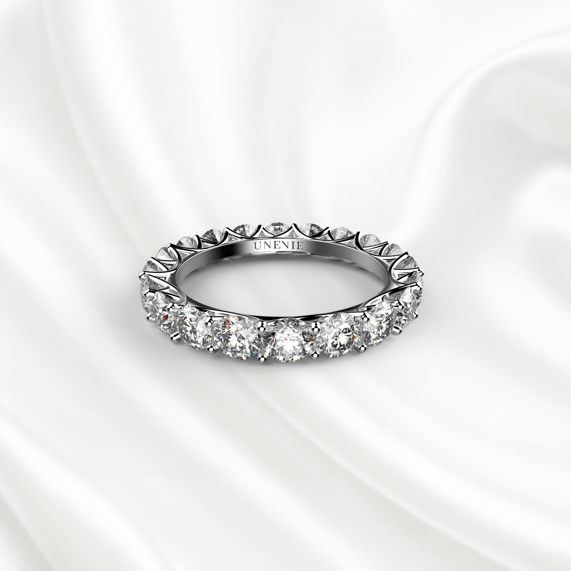 E1 Обручальное кольцо «ETERNITY» из белого золота
