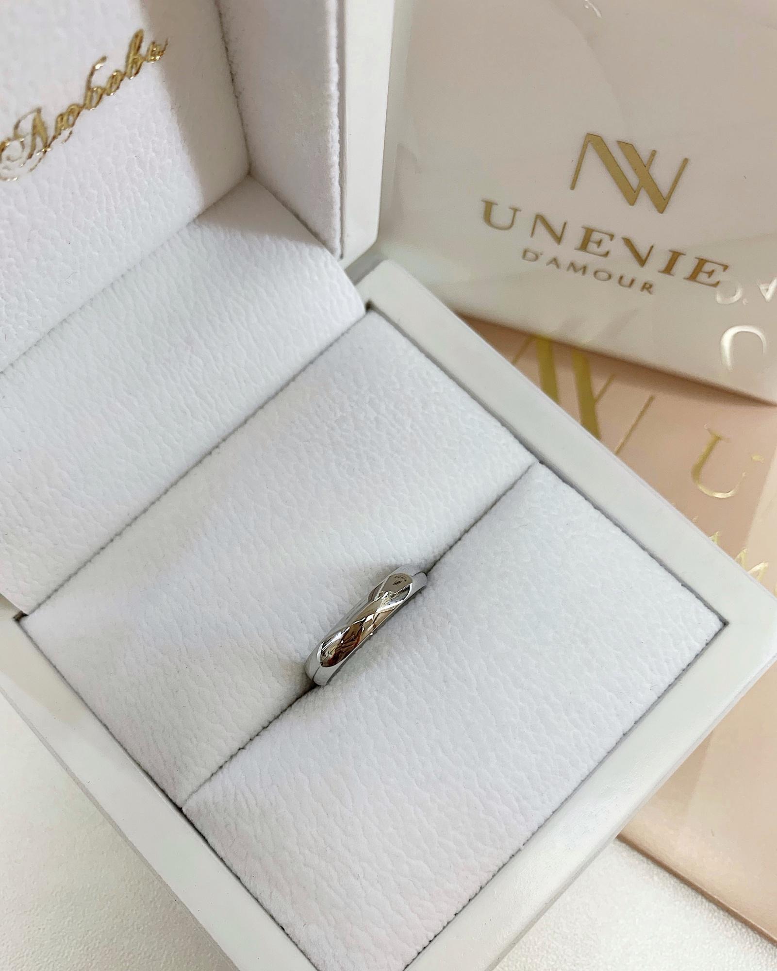 NV11 Обручальные кольца из белого золота