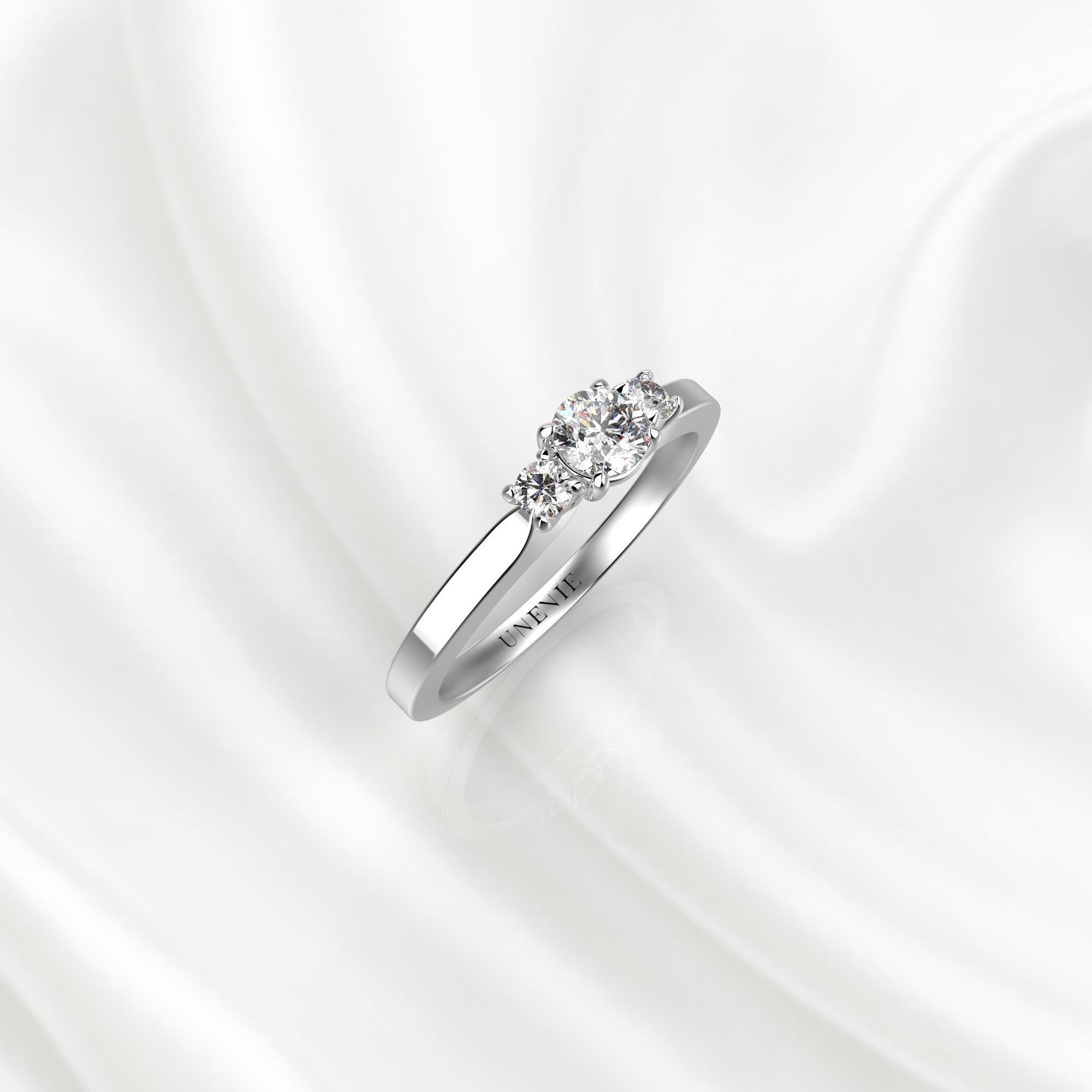 N23 Помолвочное кольцо из белого золота с бриллиантами