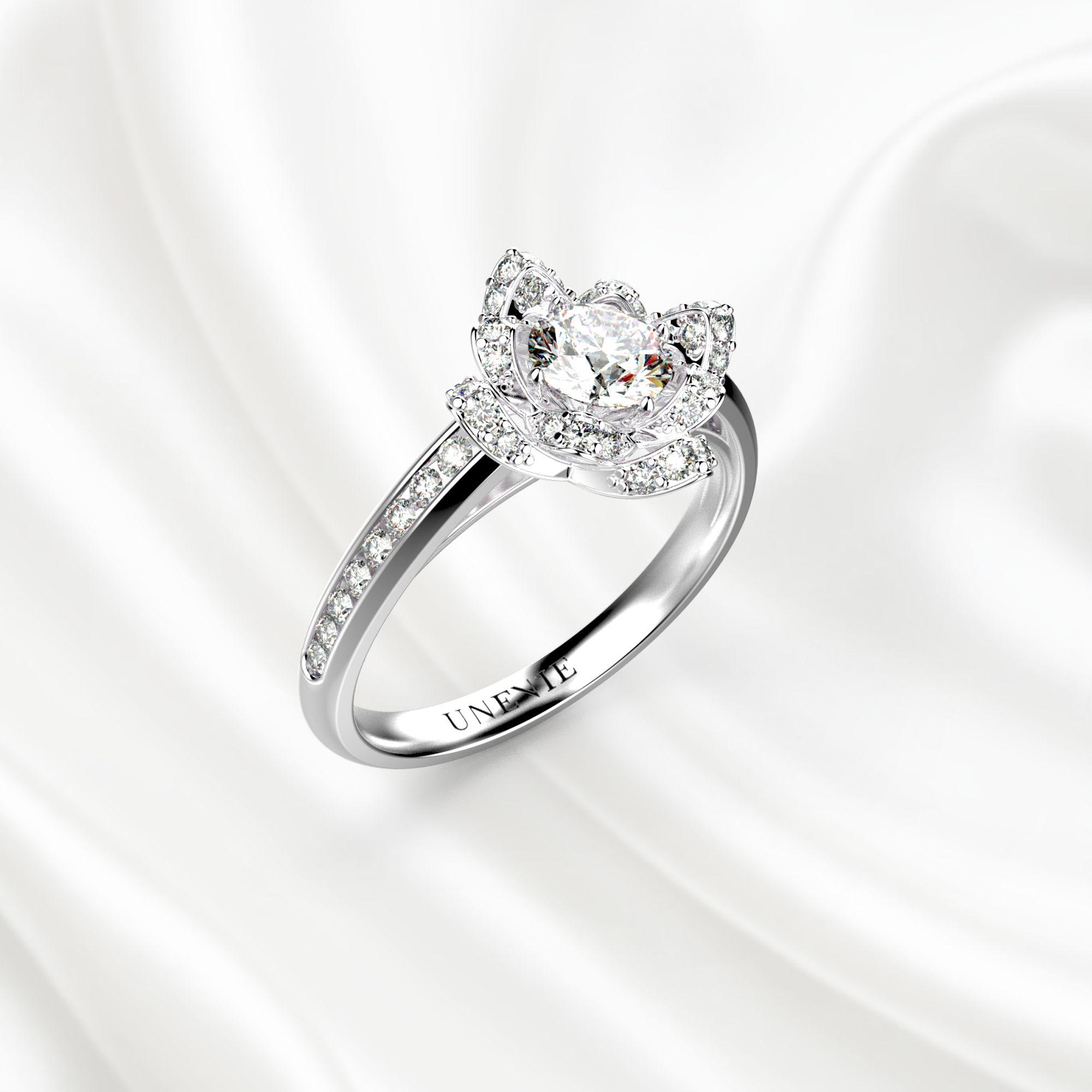 Помолвочные кольца из белого золота