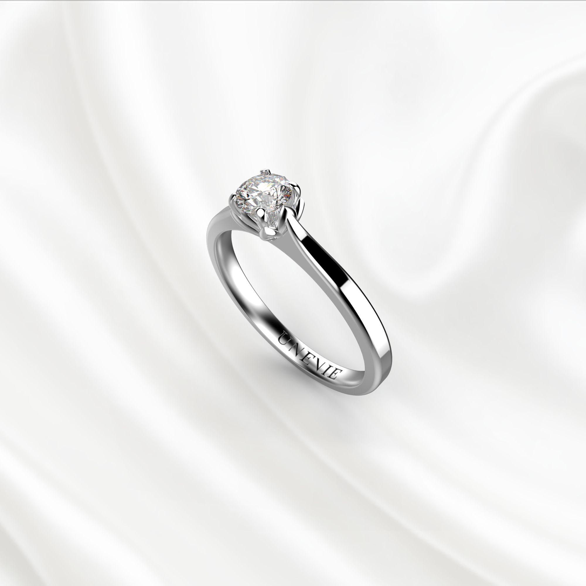 N16-1 Помолвочное кольцо из белого золота с бриллиантом 0.2 карат