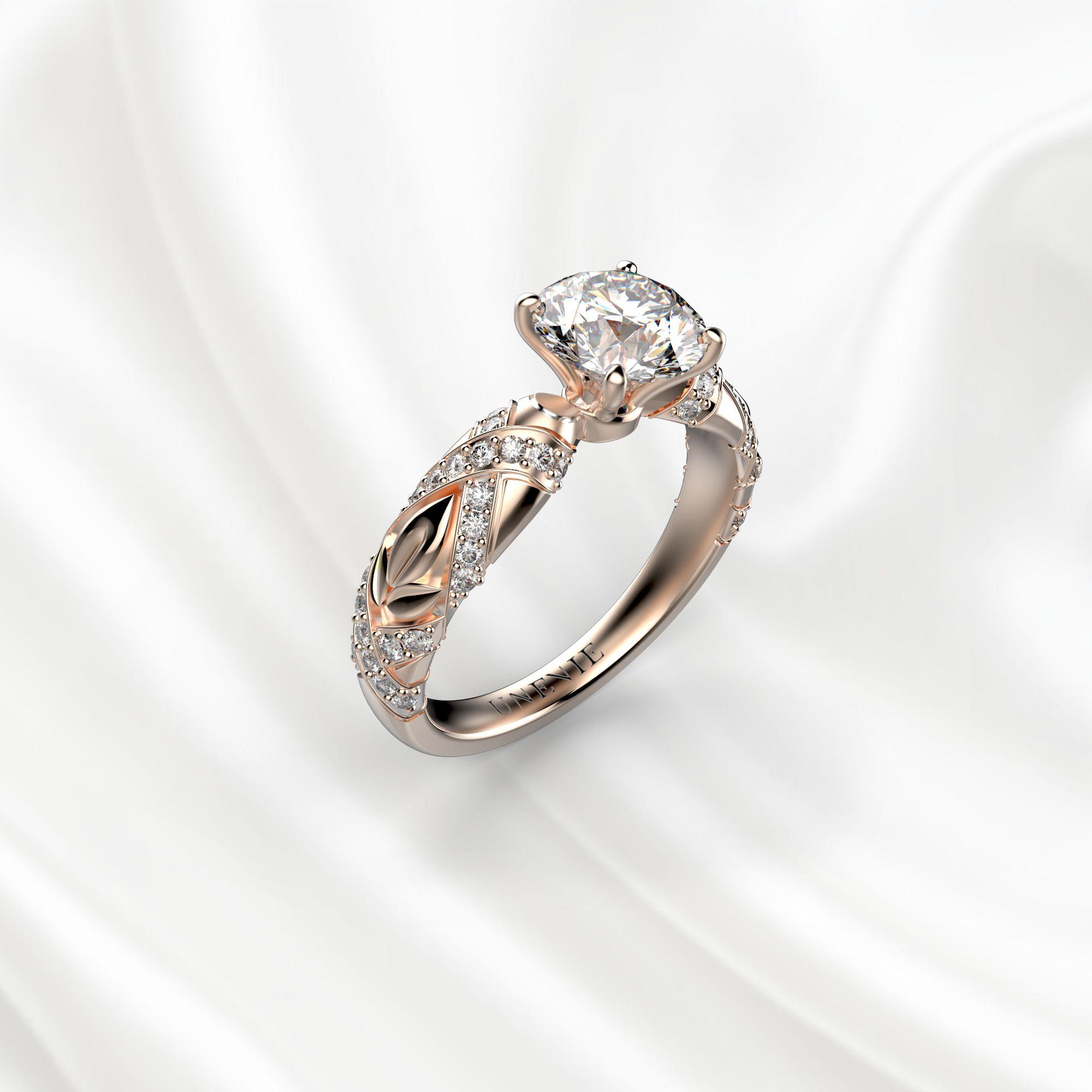 N17 Помолвочное кольцо из розового золота c 51 бриллиантом