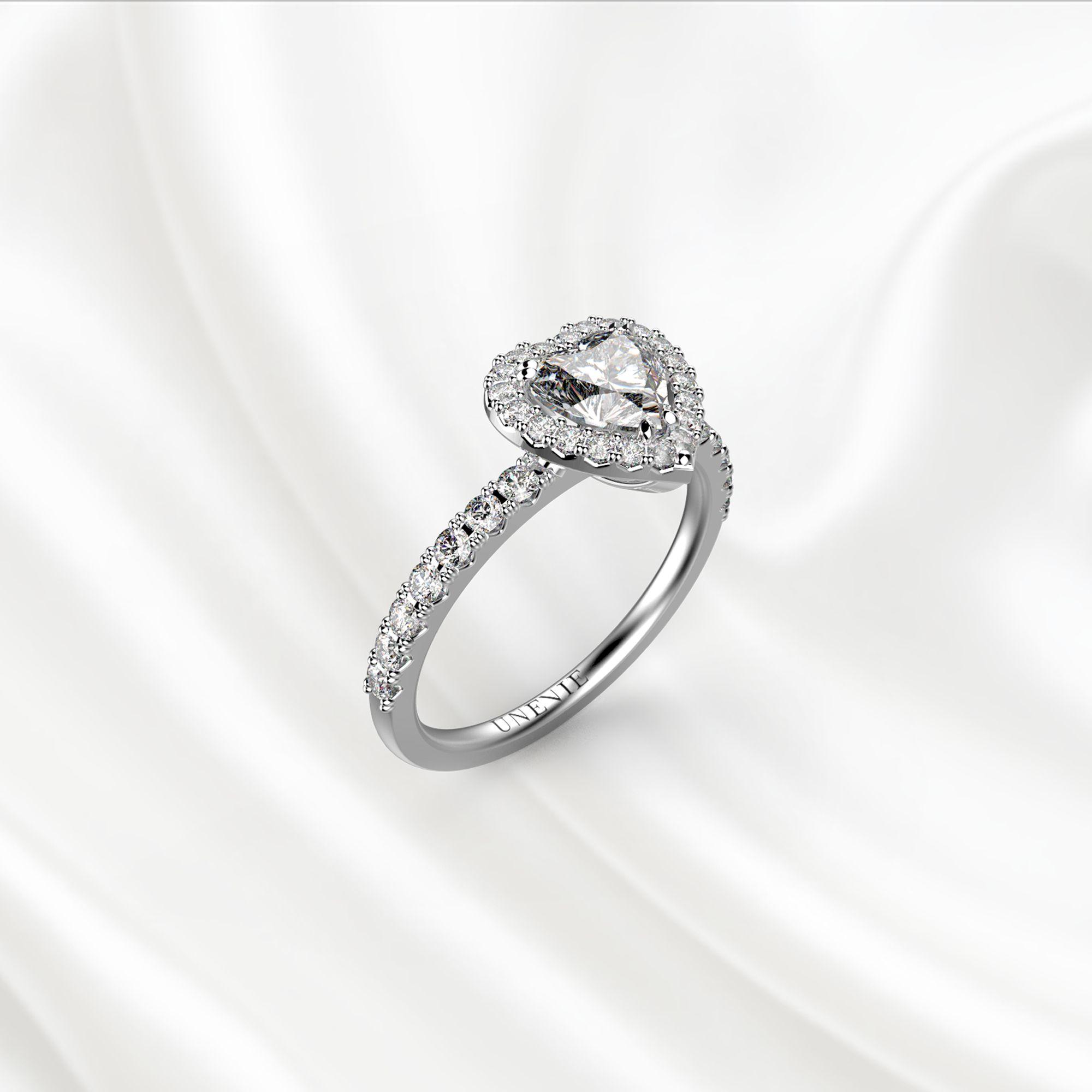 N19 Помолвочное кольцо из белого золота с бриллиантом 0.35 карат