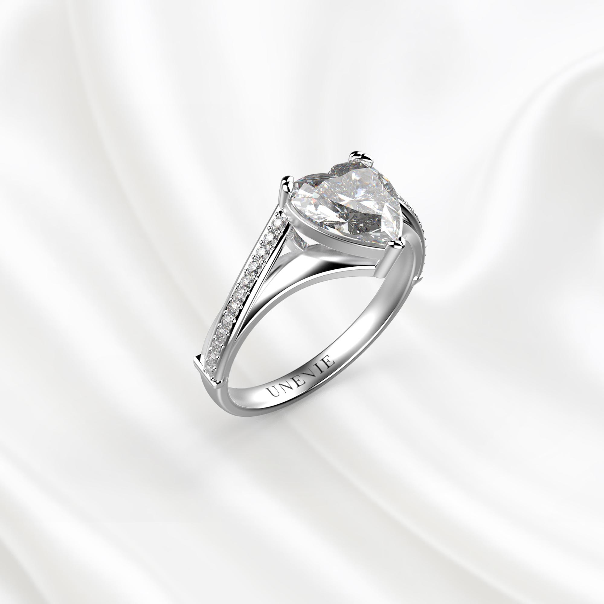N20 Помолвочное кольцо из белого золота с бриллиантом 0.6 карат