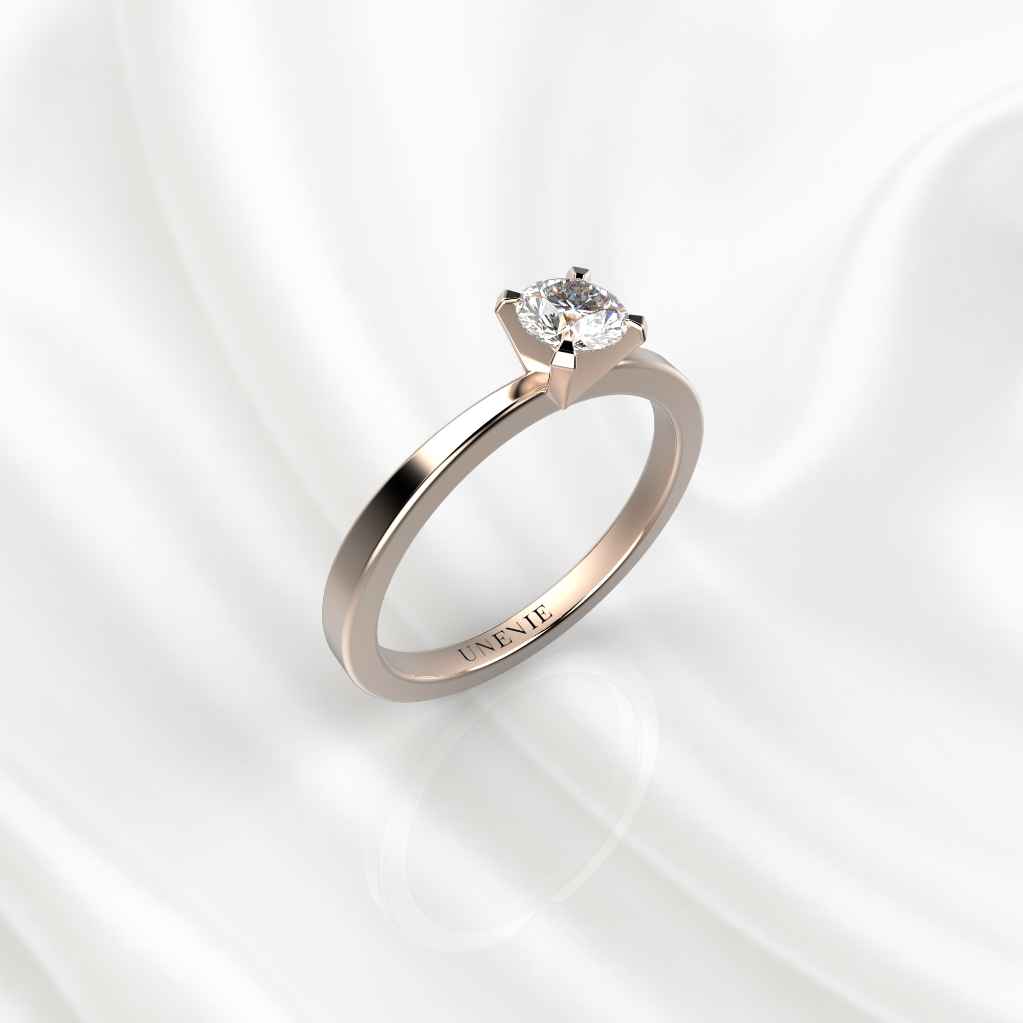 N24 Помолвочное кольцо из розового золота с бриллиантом 0.28 карат