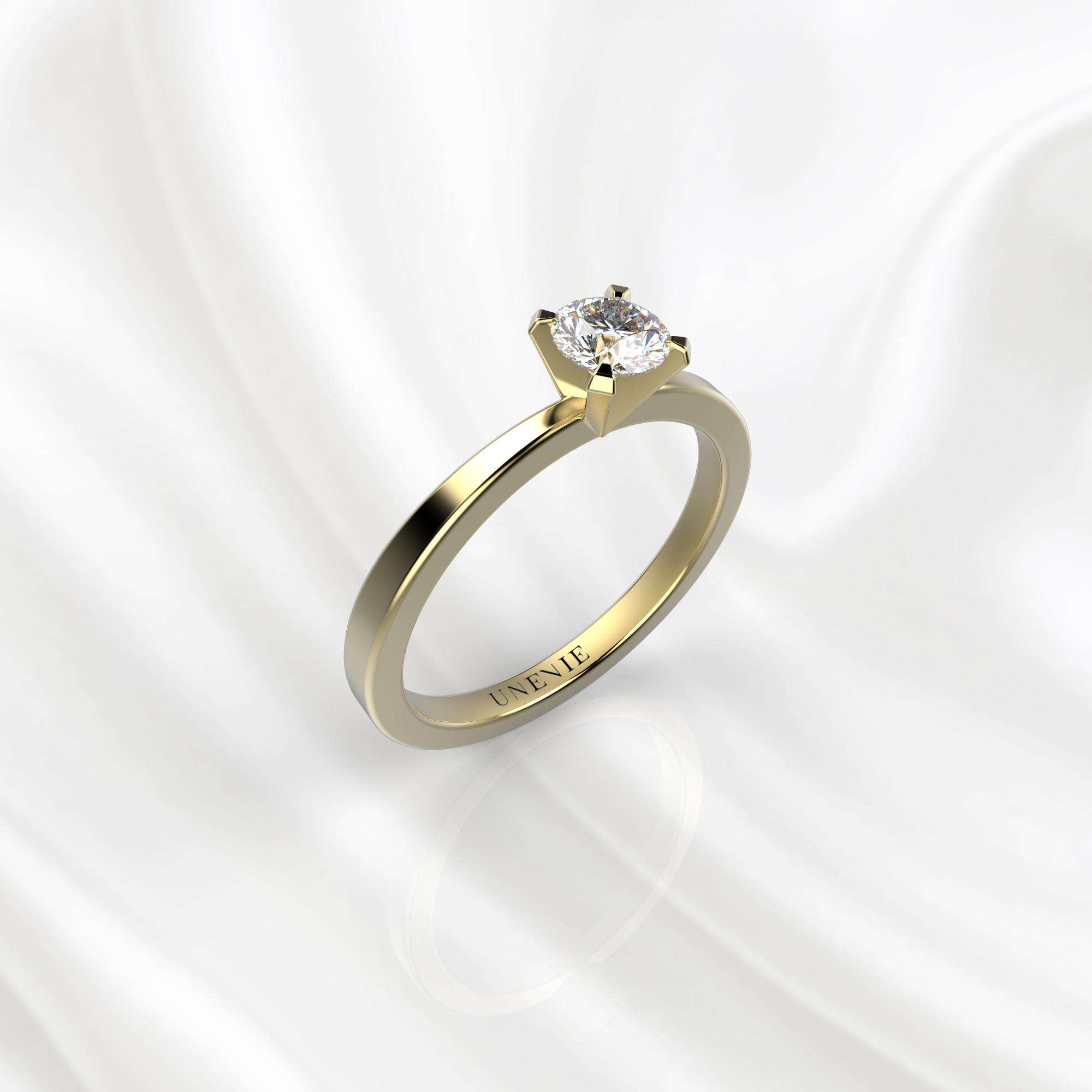 N24 Помолвочное кольцо из желтого золота с бриллиантом 0.28 карат