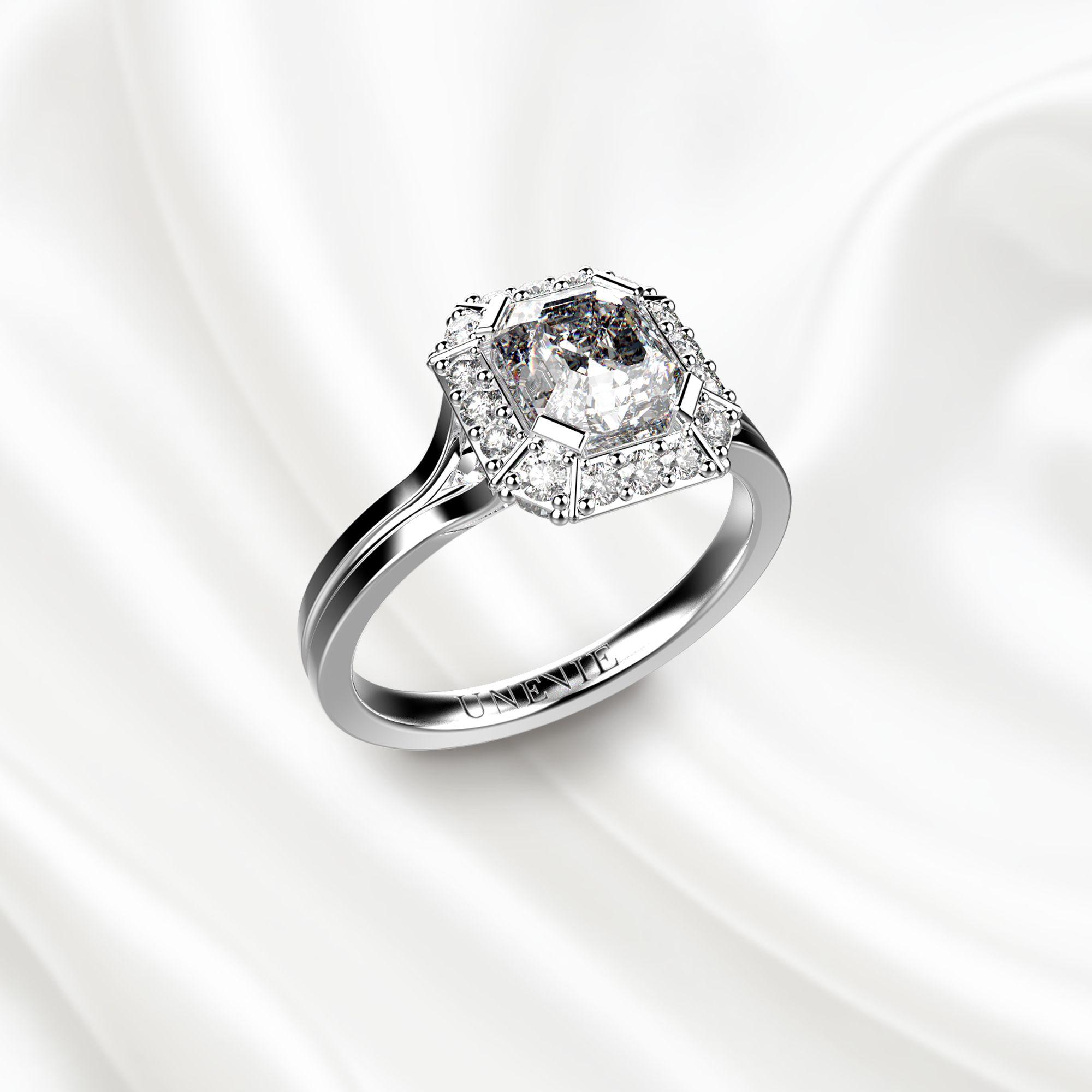N7 Помолвочное кольцо из белого золота