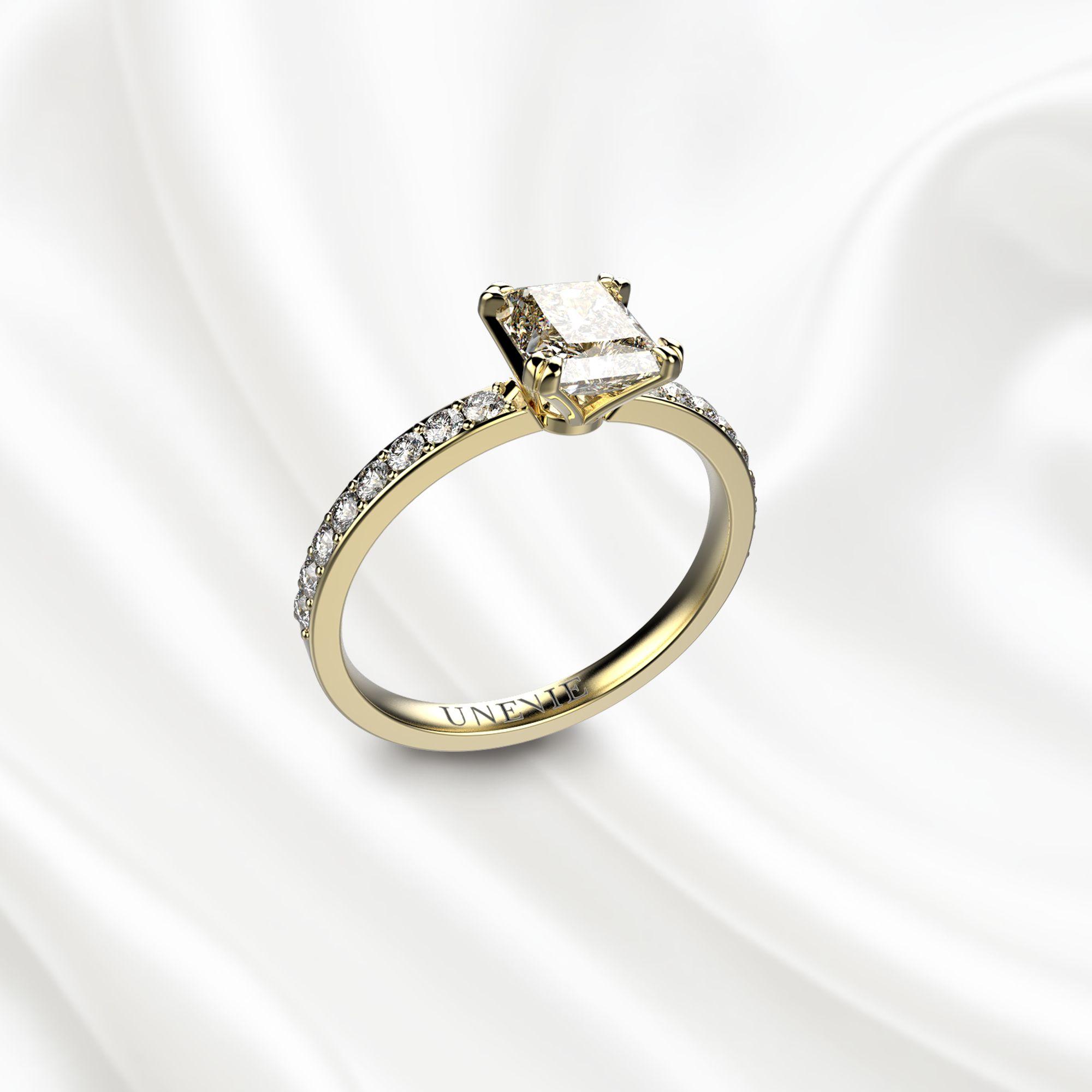N5 Помолвочное кольцо из розового золота с бриллиантом 1 карат