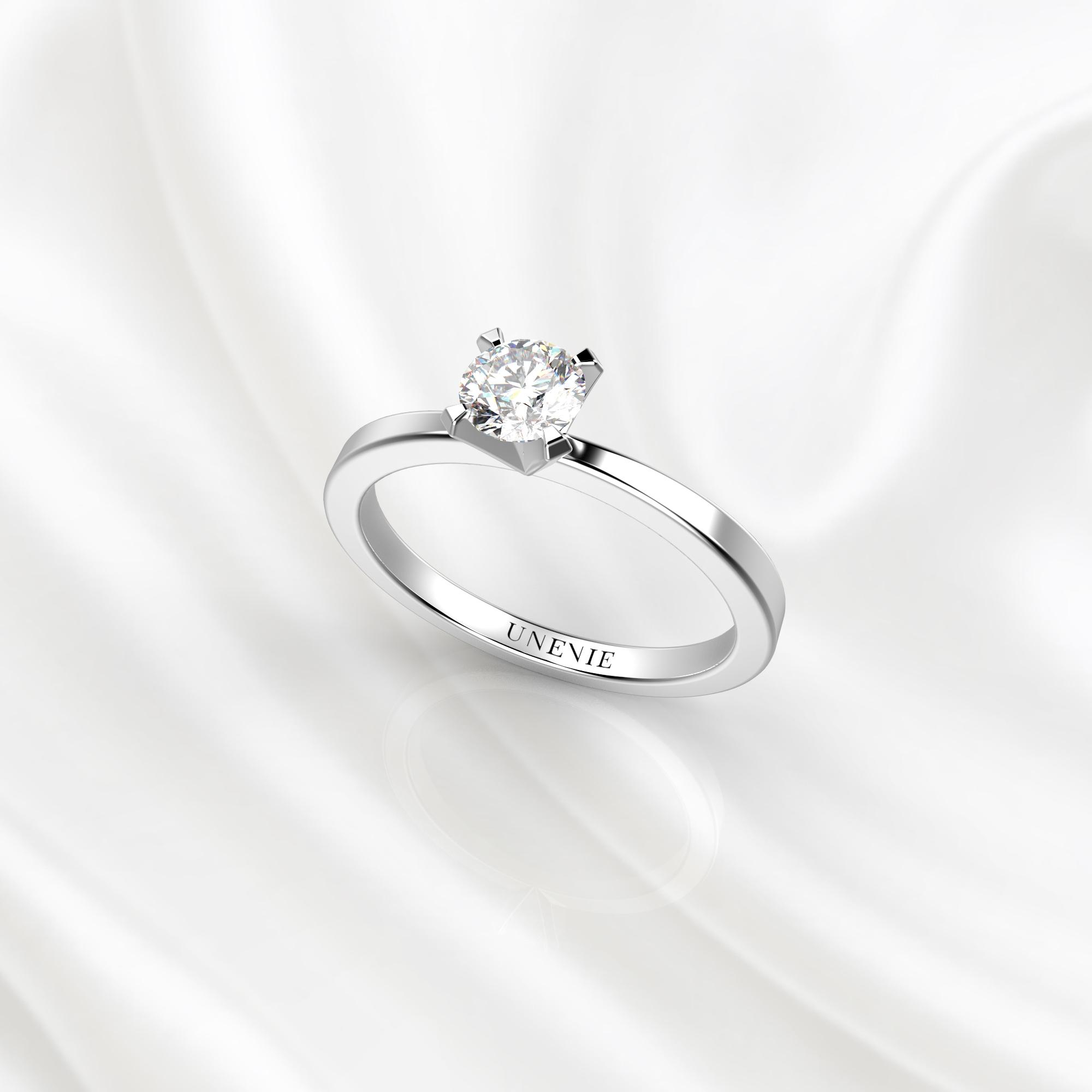 N24 Помолвочное кольцо из белого золота с бриллиантом 0.28 карат
