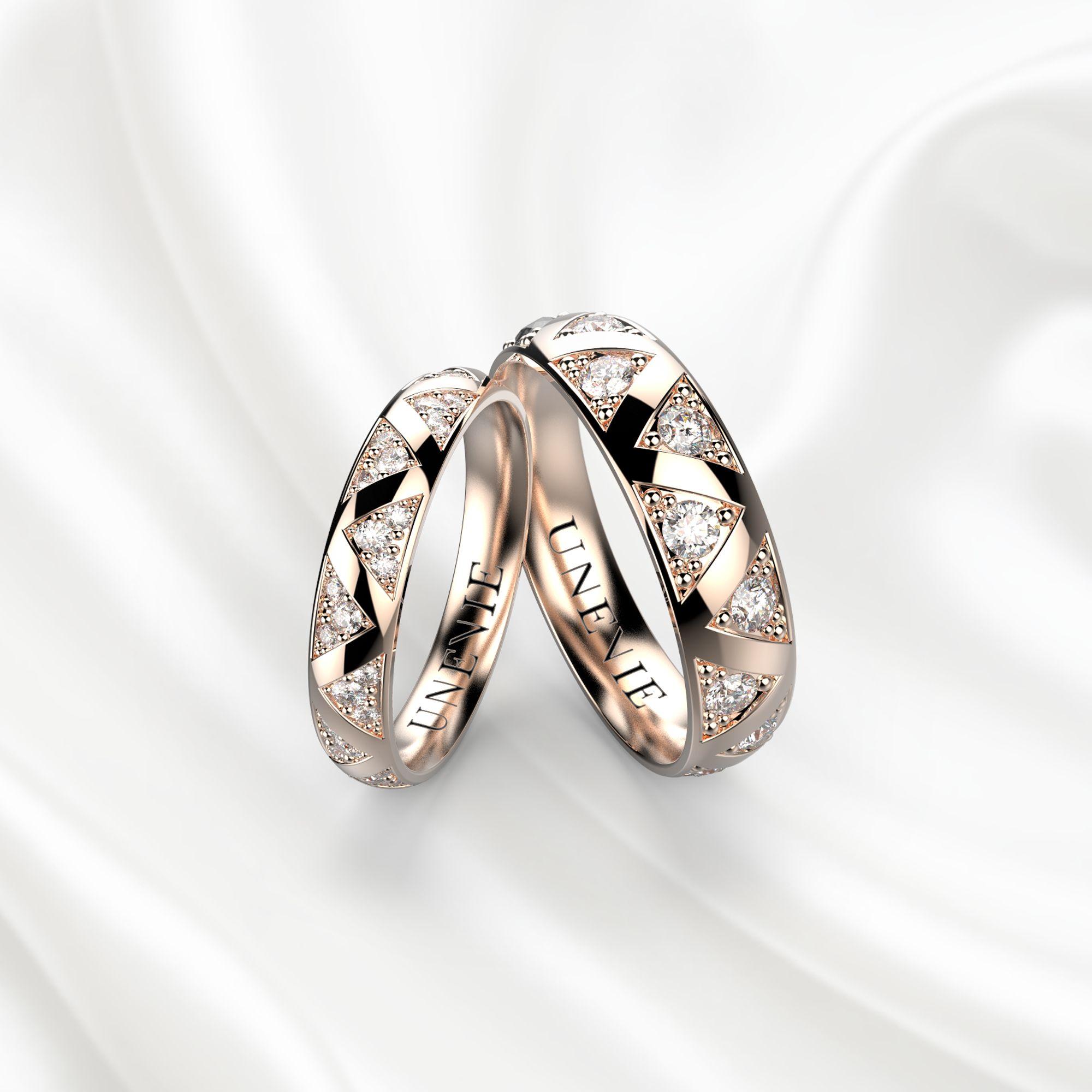 NV15 Обручальные кольца из розового золота
