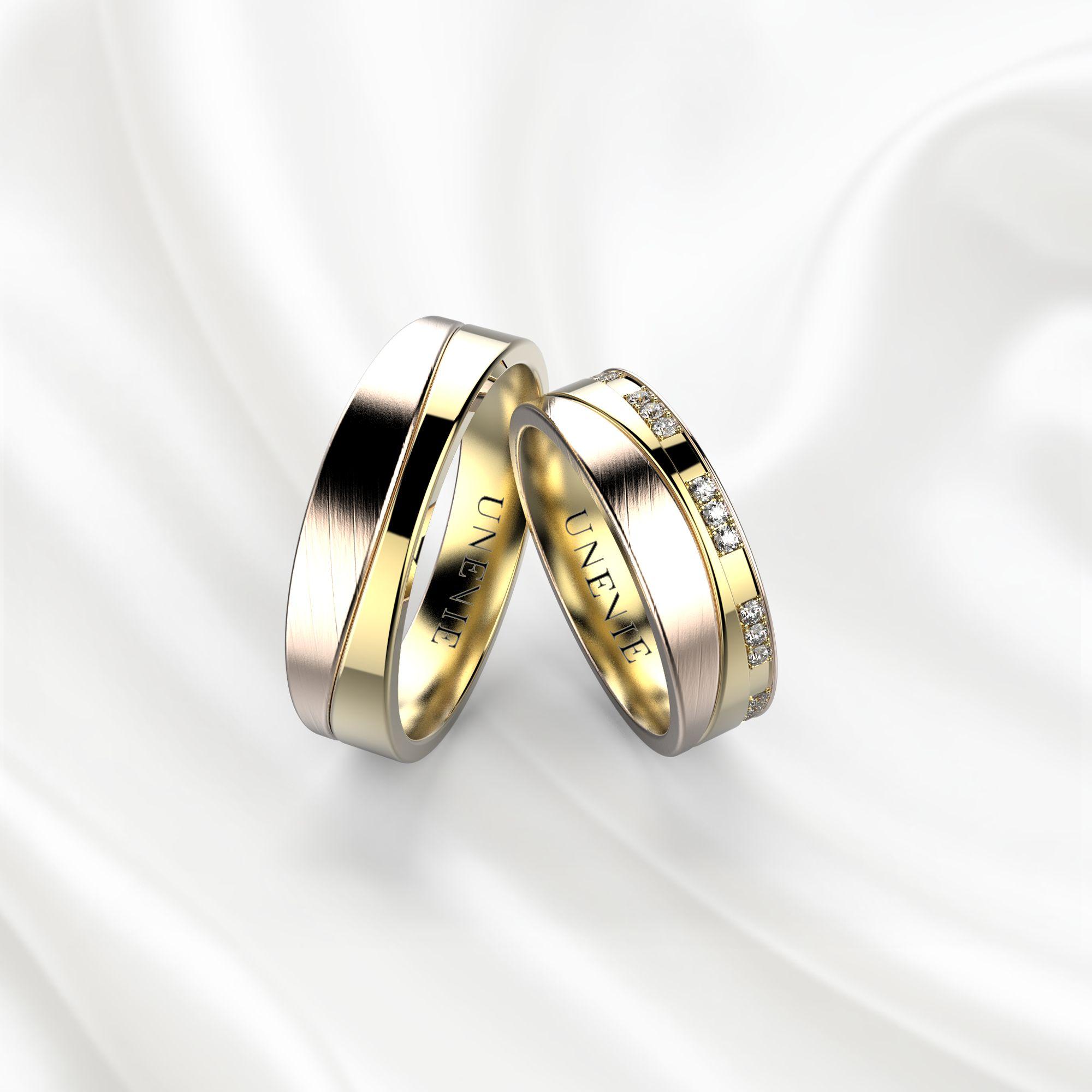 NV4 Обручальные кольца из розово-желтого