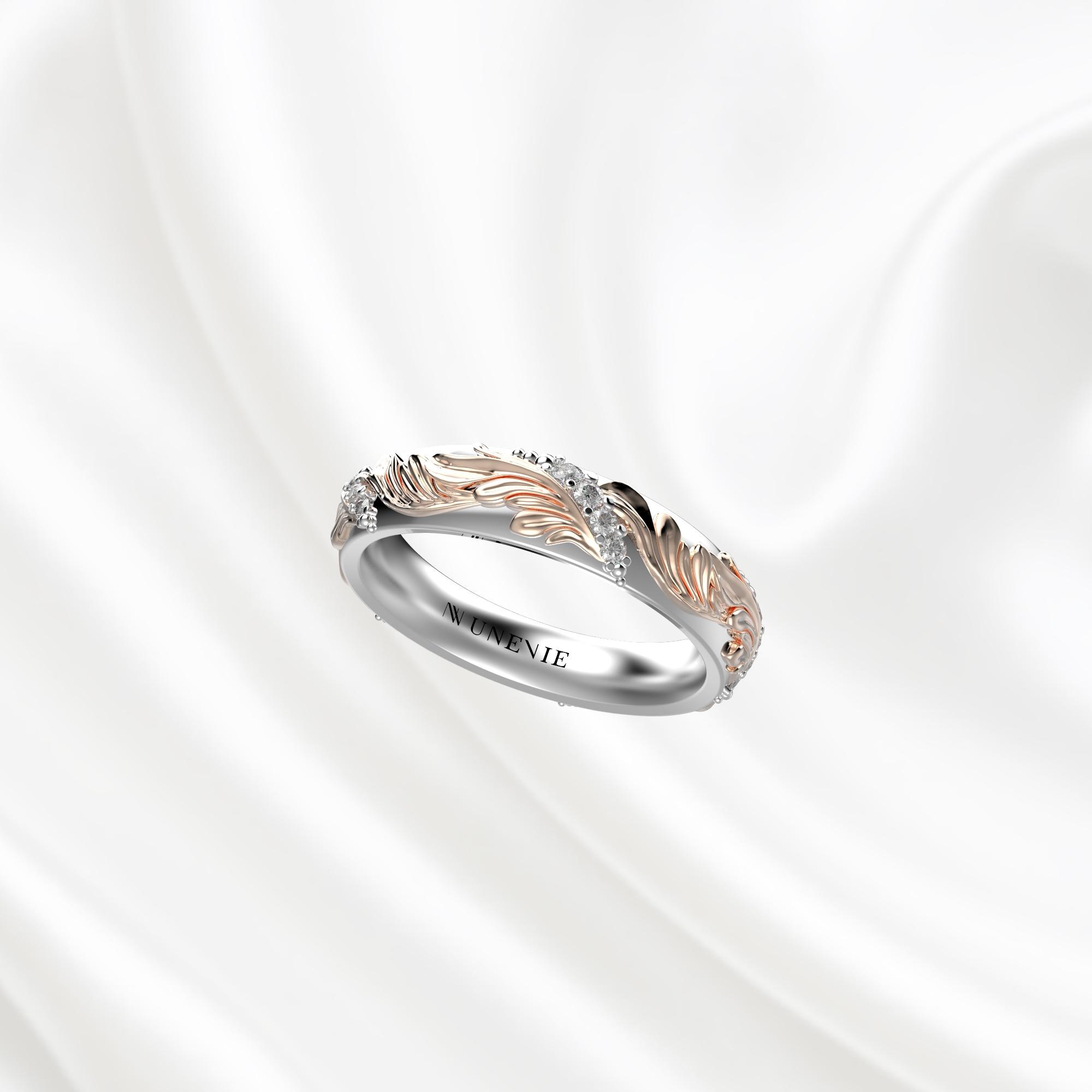 Ажурные обручальные кольца из золота 585 пробы с бриллиантами