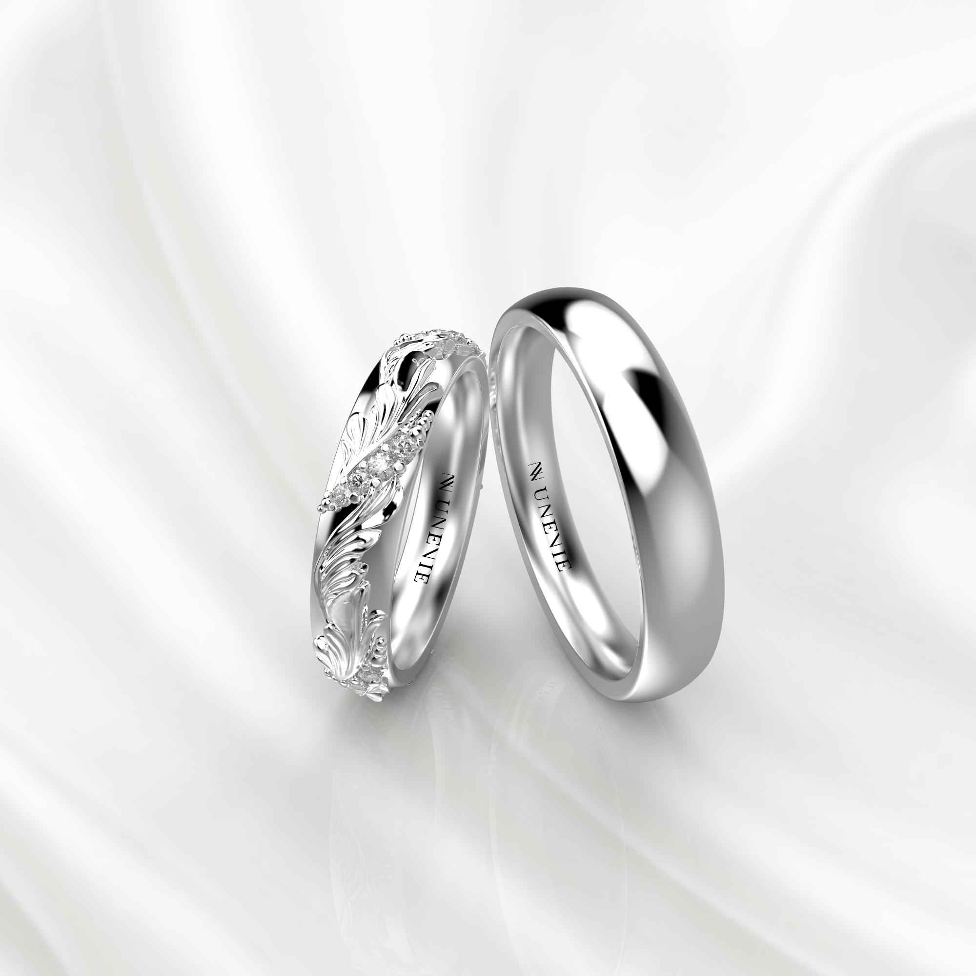 Ажурные обручальные кольца с бриллиантами