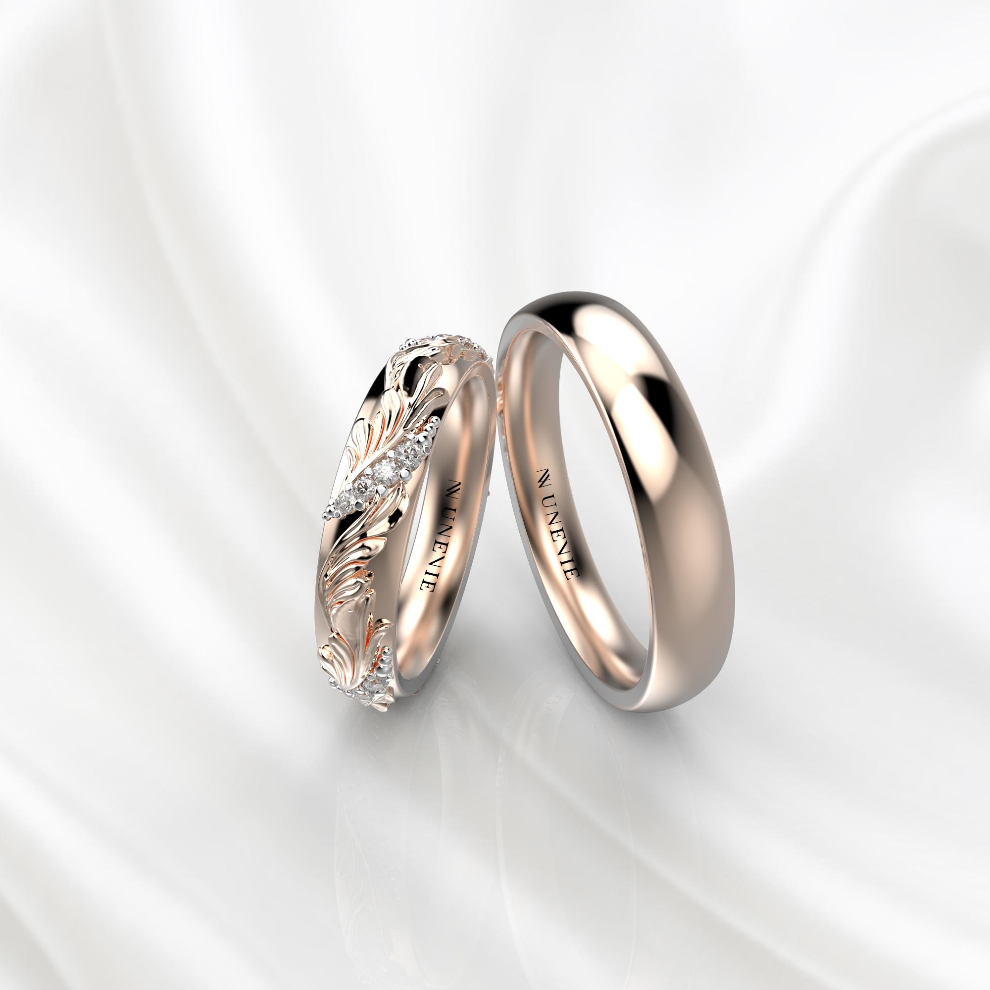 Ажурные обручальные кольца с 20 бриллиантами