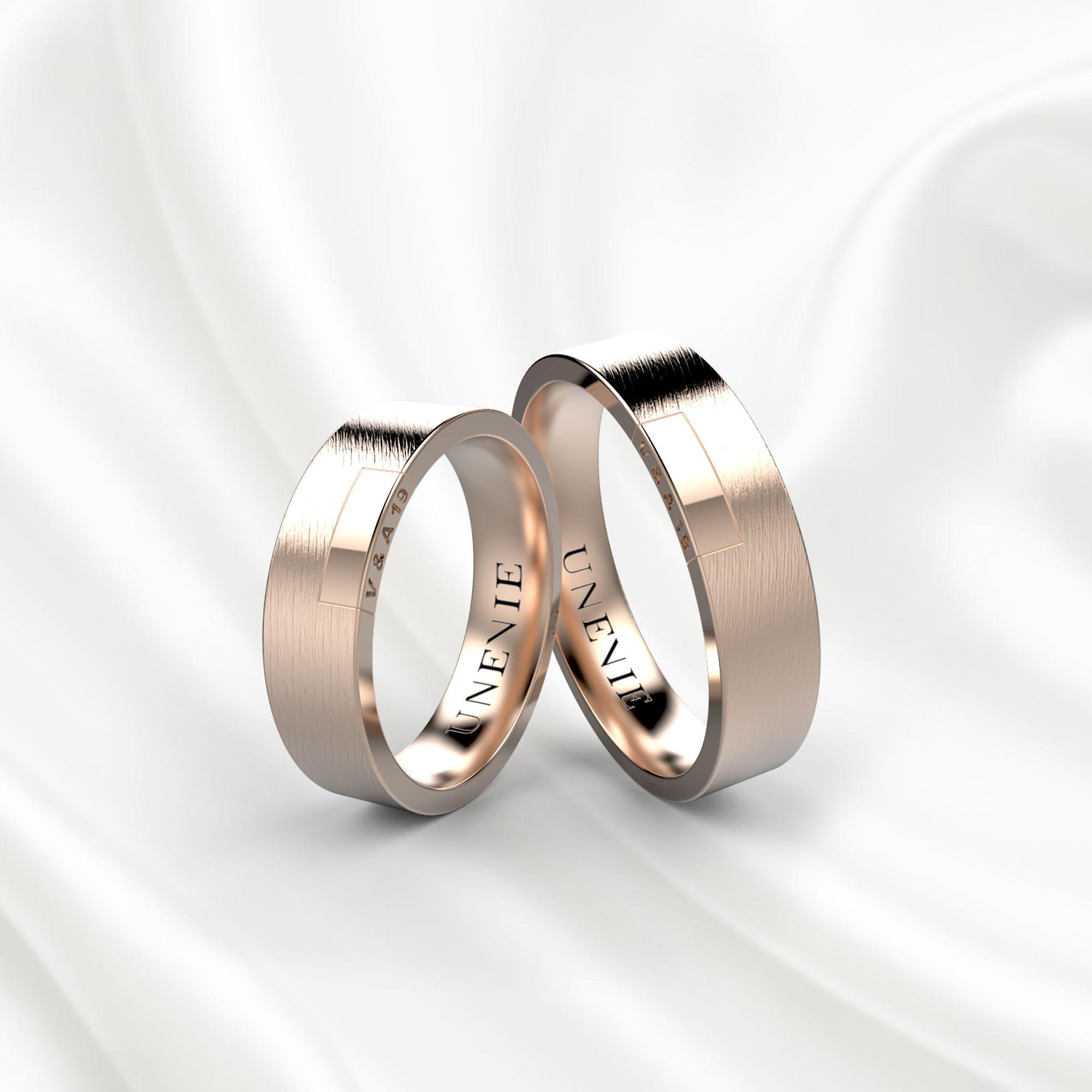 NV19 Обручальные кольца из розового золота