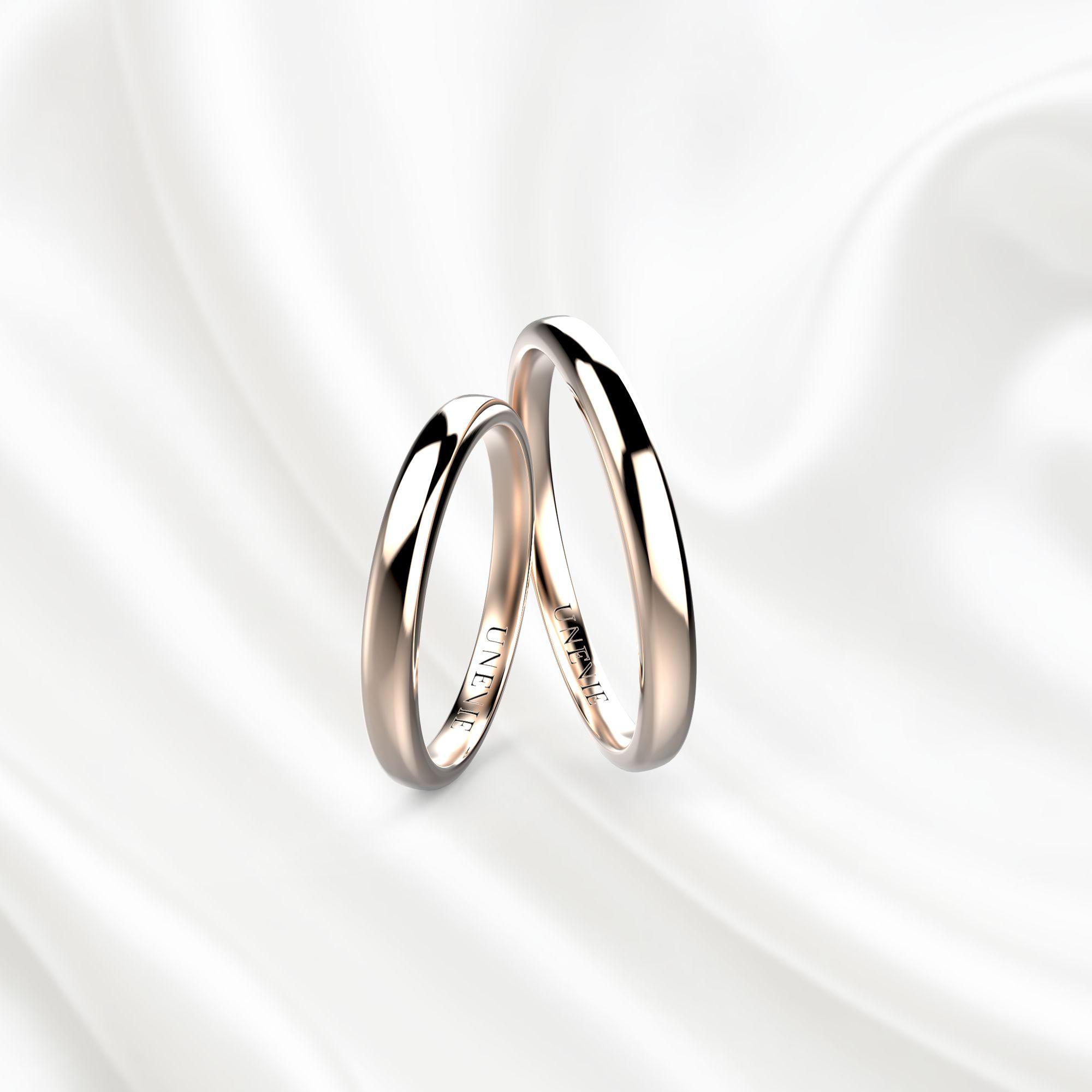 NV20 Обручальные кольца из розового золота