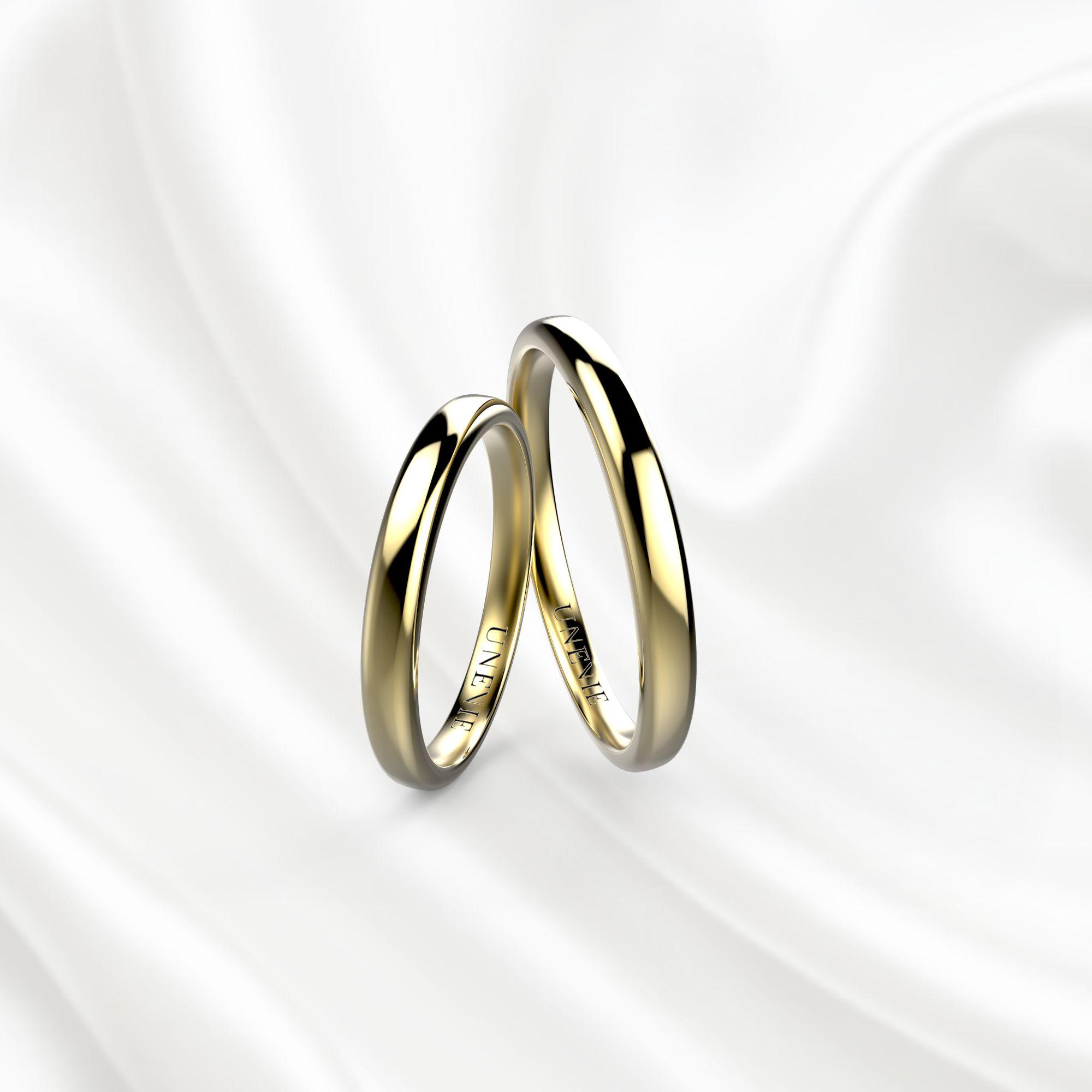 NV20 Обручальные кольца из желтого золота