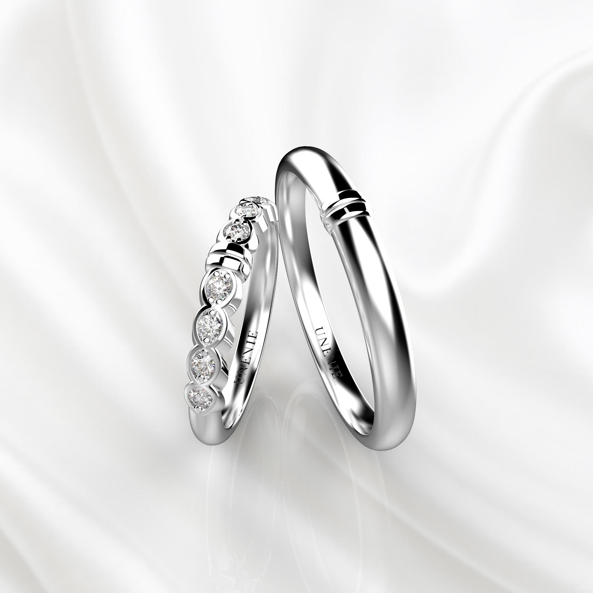 NV36 Обручальные кольца из белого золота с бриллиантами
