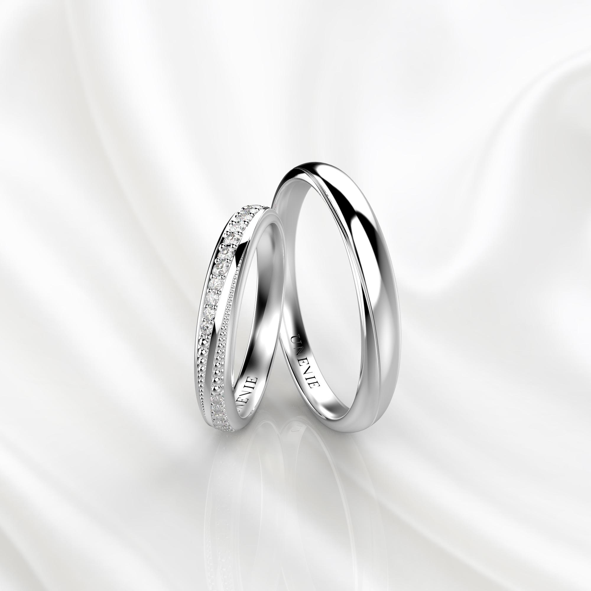 NV38 Обручальные кольца из белого золота с бриллиантами